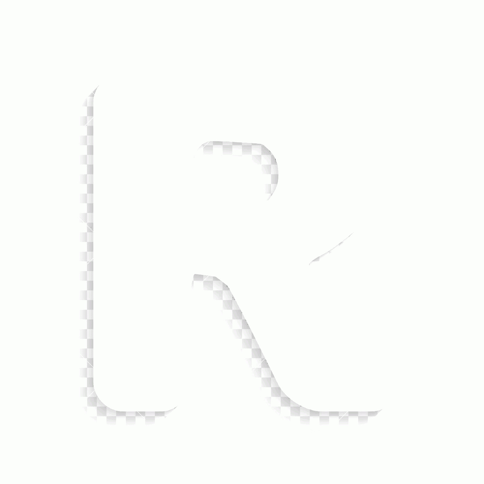R Transparent Background Vector: Photostock Vector Letter R Sign Design Template Element Vector White Icon With Soft Shadow On Transparent Background