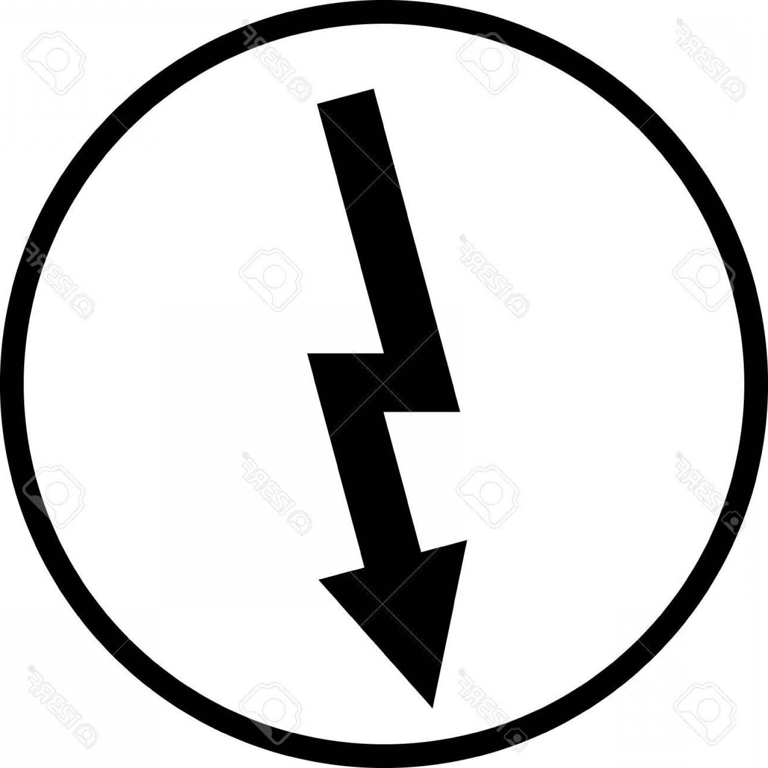 Vector Lightning Bolt Tribe: Photostock Vector Lightning Bolt High Voltage Vector Sign Isolated