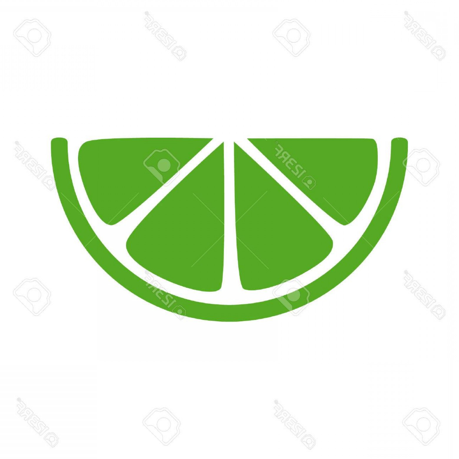 Lime Wedge Vector Art: Photostock Vector Lime Citrus Slice Flat Icon For Apps And Websites