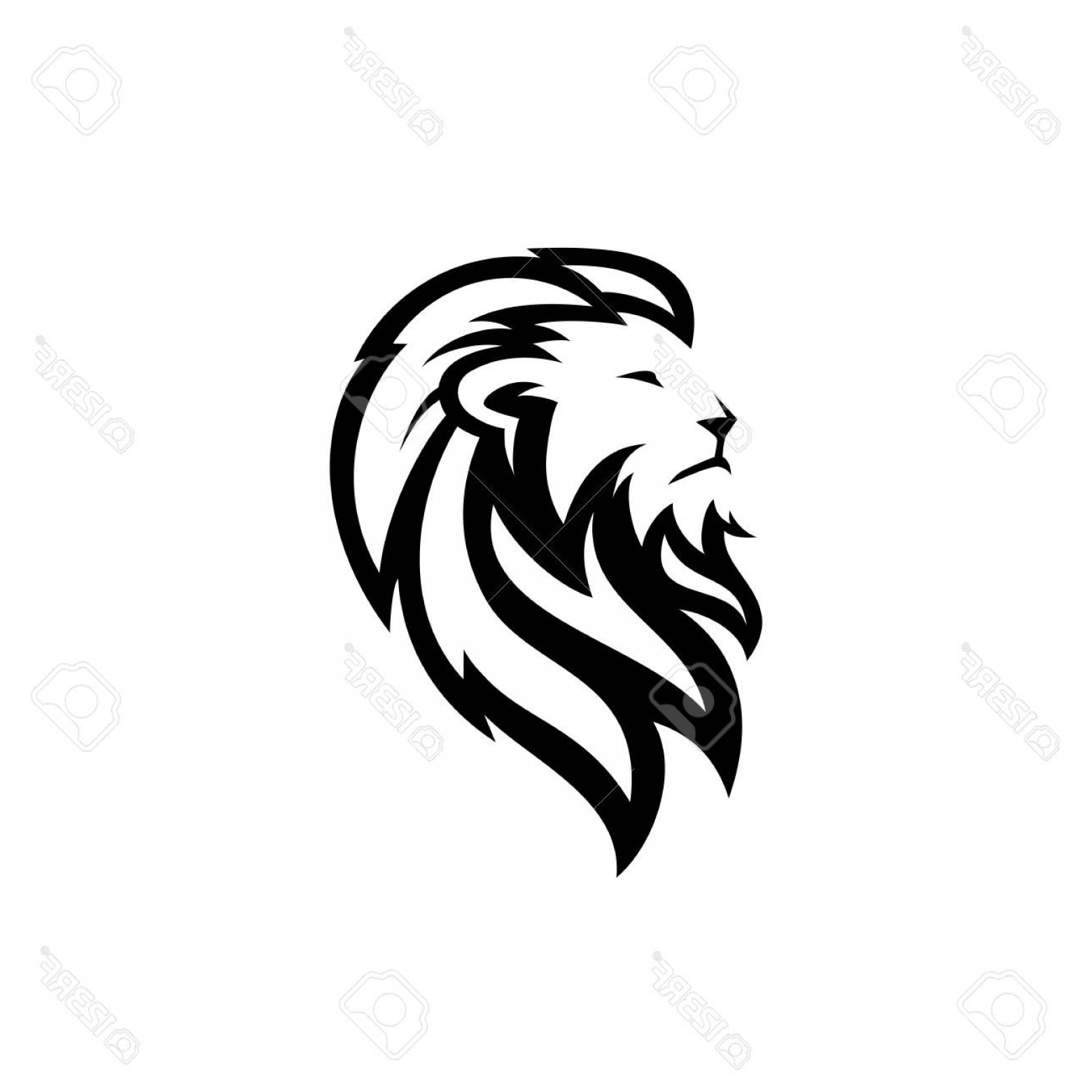 Free Vector Backgrounds Illustrator Free Download: Photostock Vector Lion Head Logo Vector Icon Download On White Background