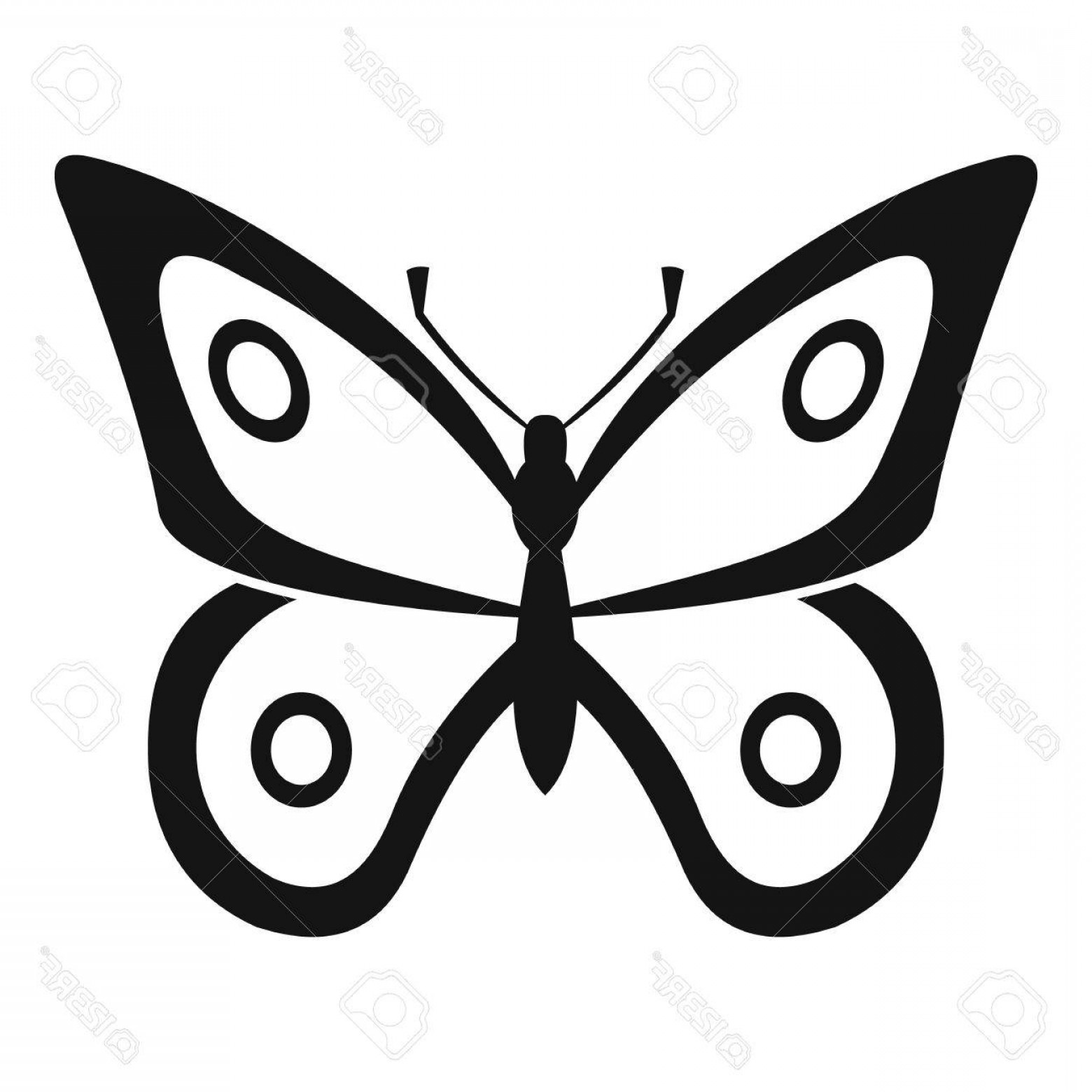 Butterly Vector: Photostock Vector Little Butterfly Icon Simple Illustration Of Little Butterfly Vector Icon For Web