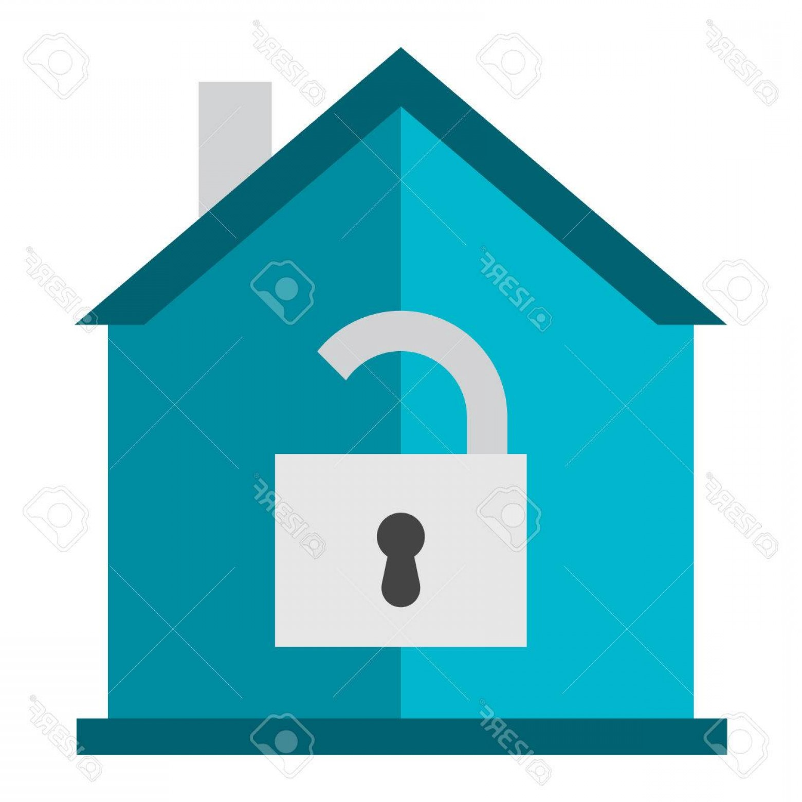 Lock Unlock Icon Vector: Photostock Vector Lock House Icon Vector Design Computer Key Sign Vector Security Isolated Business Home Lock Icon Pro