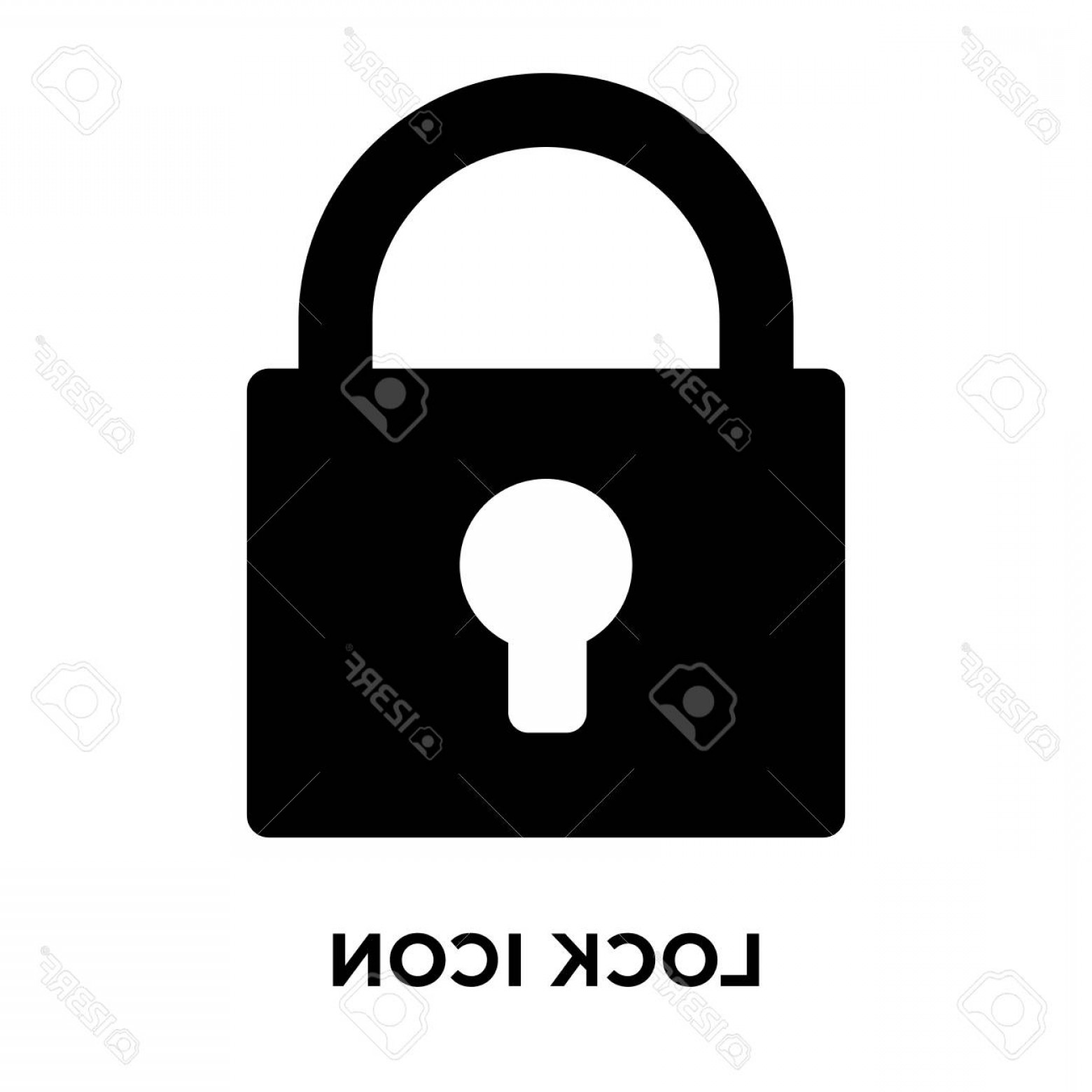 Vector Lock White: Photostock Vector Lock Icon Vector Isolated On White Background Logo Concept Of Lock Sign On Transparent Background Fi