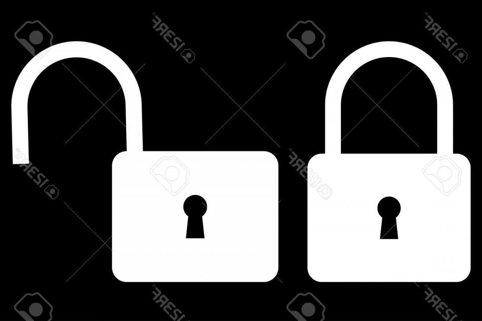 Lock Unlock Icon Vector: Photostock Vector Locked And Unlocked Padlock Icon Padlock Icon