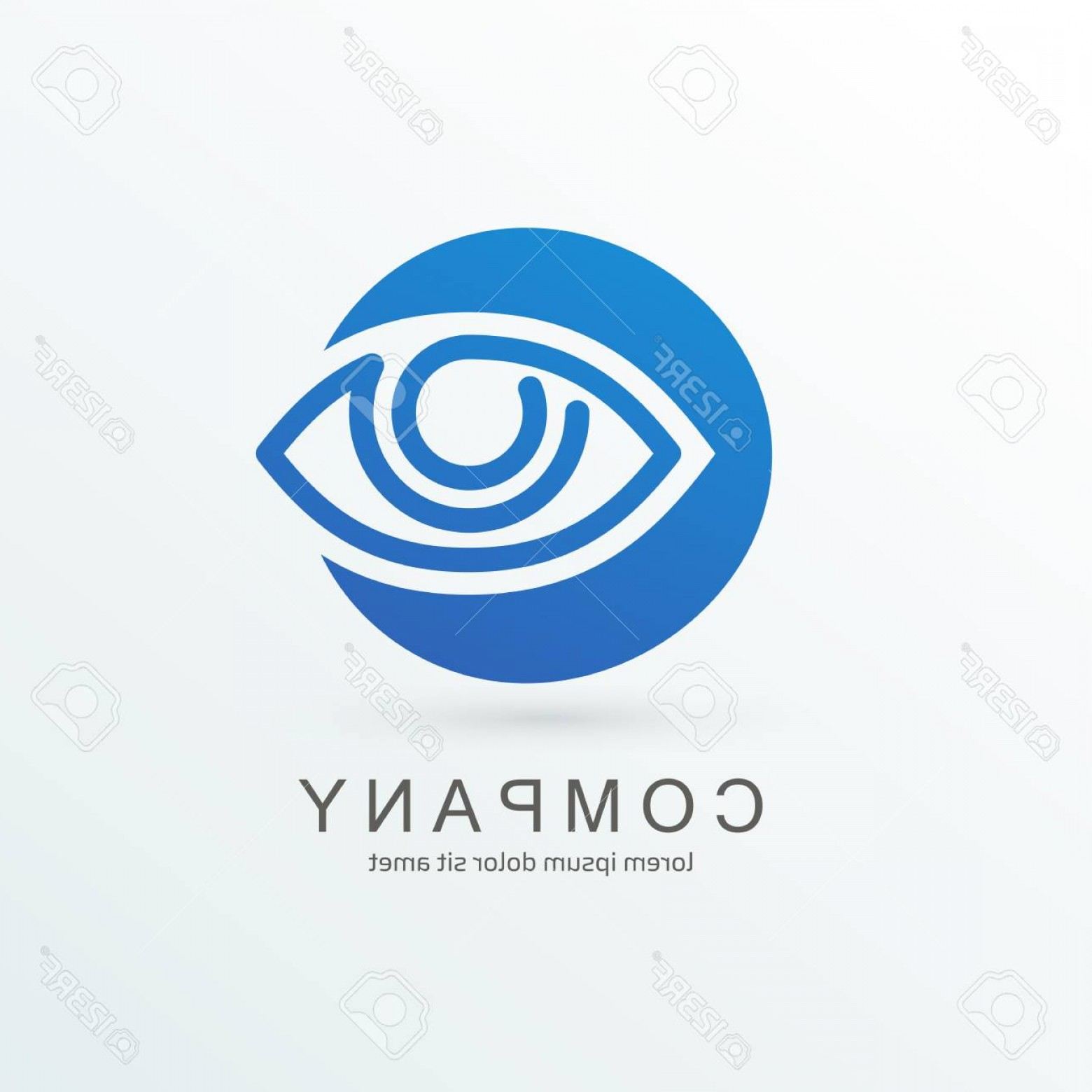 Eye Vector Logo: Photostock Vector Logo Design Eye Vector Template
