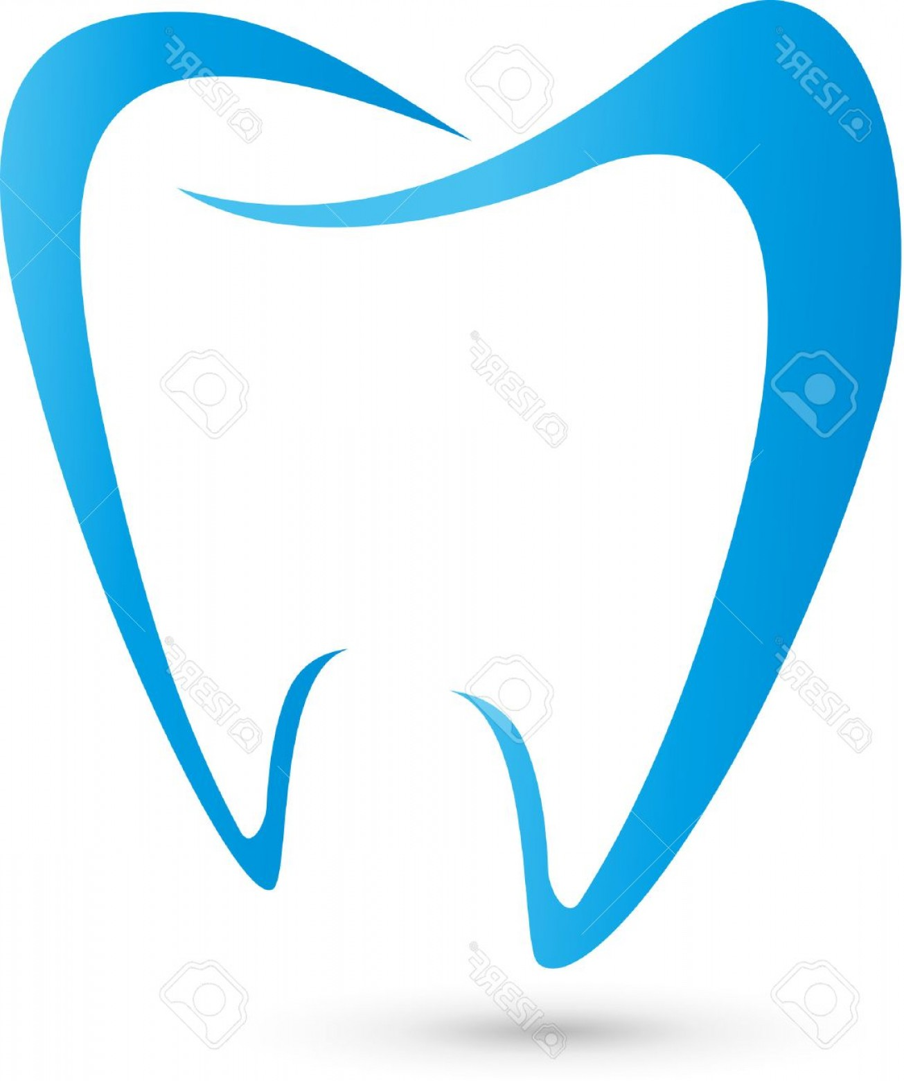 Tooth Vector Logo: Photostock Vector Logo For Dentists Dental Tooth