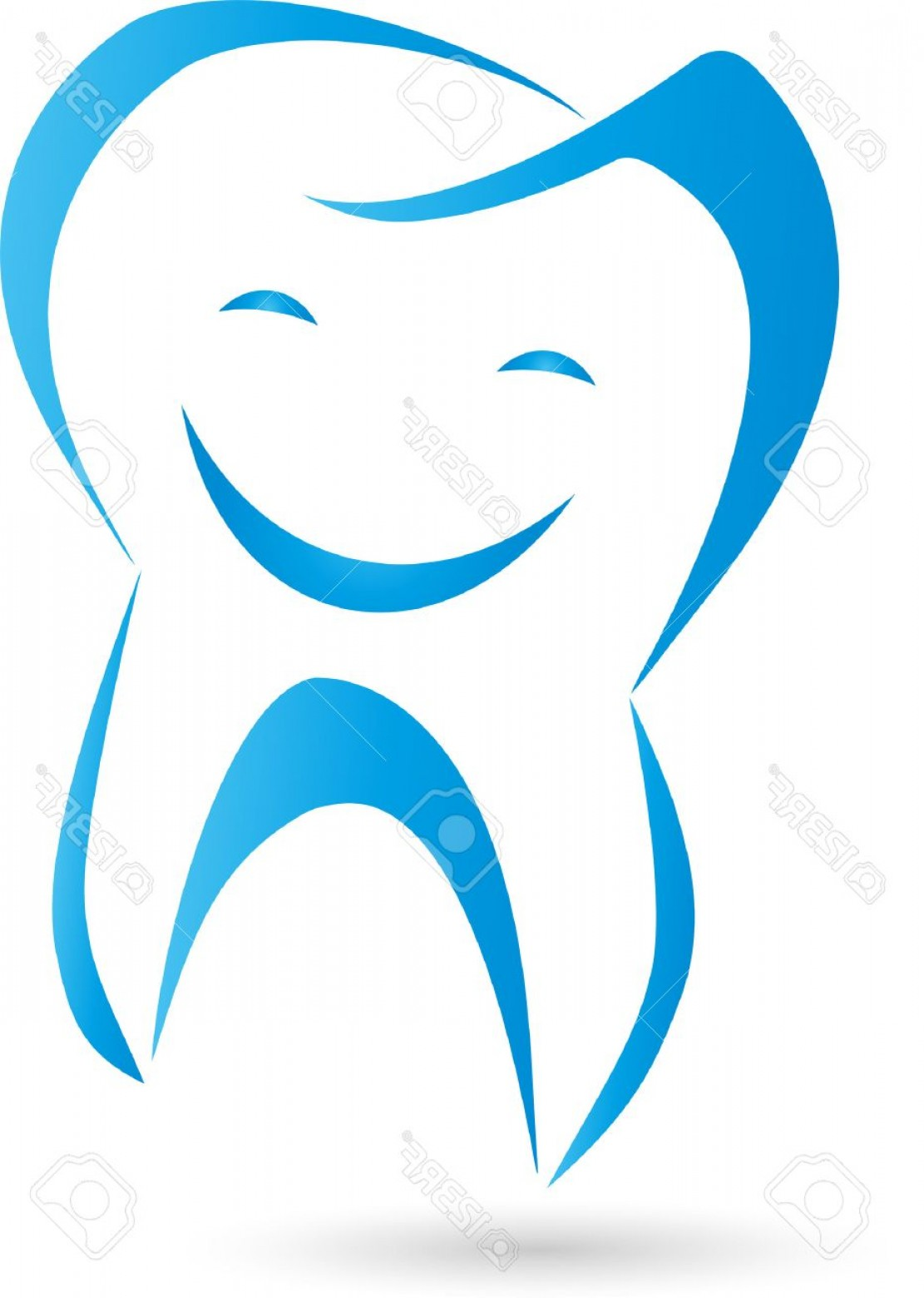 Tooth Vector Logo: Photostock Vector Logo Teeth Laughing Tooth Dentist