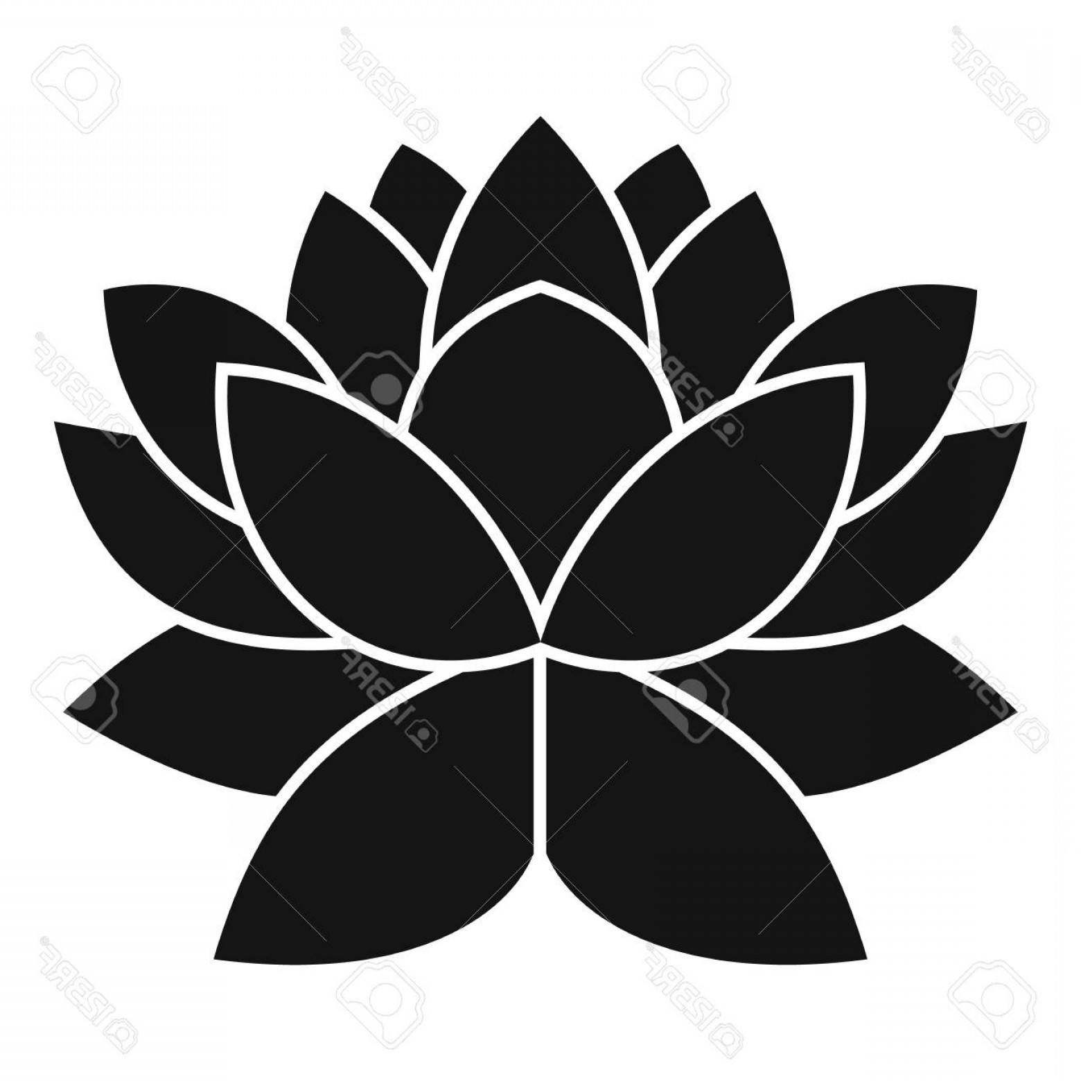Icon Of Flower Vectors: Photostock Vector Lotus Flower Icon Simple Illustration Of Lotus Flower Vector Icon For Web Design
