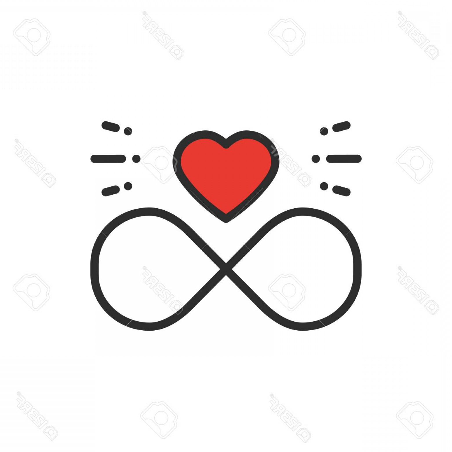 Infinity Heart Tattoo Vector: Photostock Vector Love Line Infinite Heart Icon Happy Valentine Day Sign And Symbol Love Couple Relationship Dating We