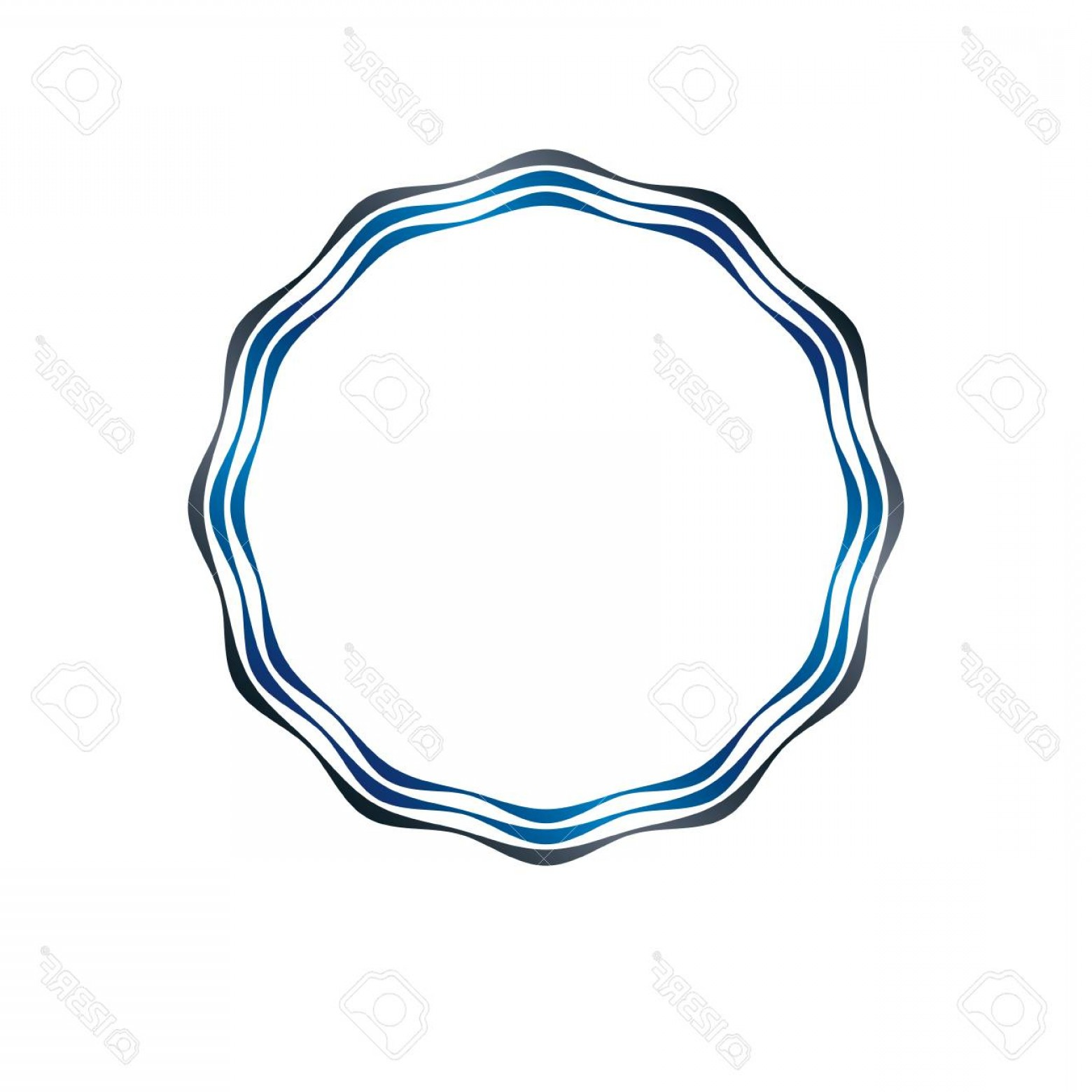 Luxury Round Frame Vector: Photostock Vector Luxury Round Frame With Empty Copy Space Classic Heraldic Blank Circular Shape Created With Undulate