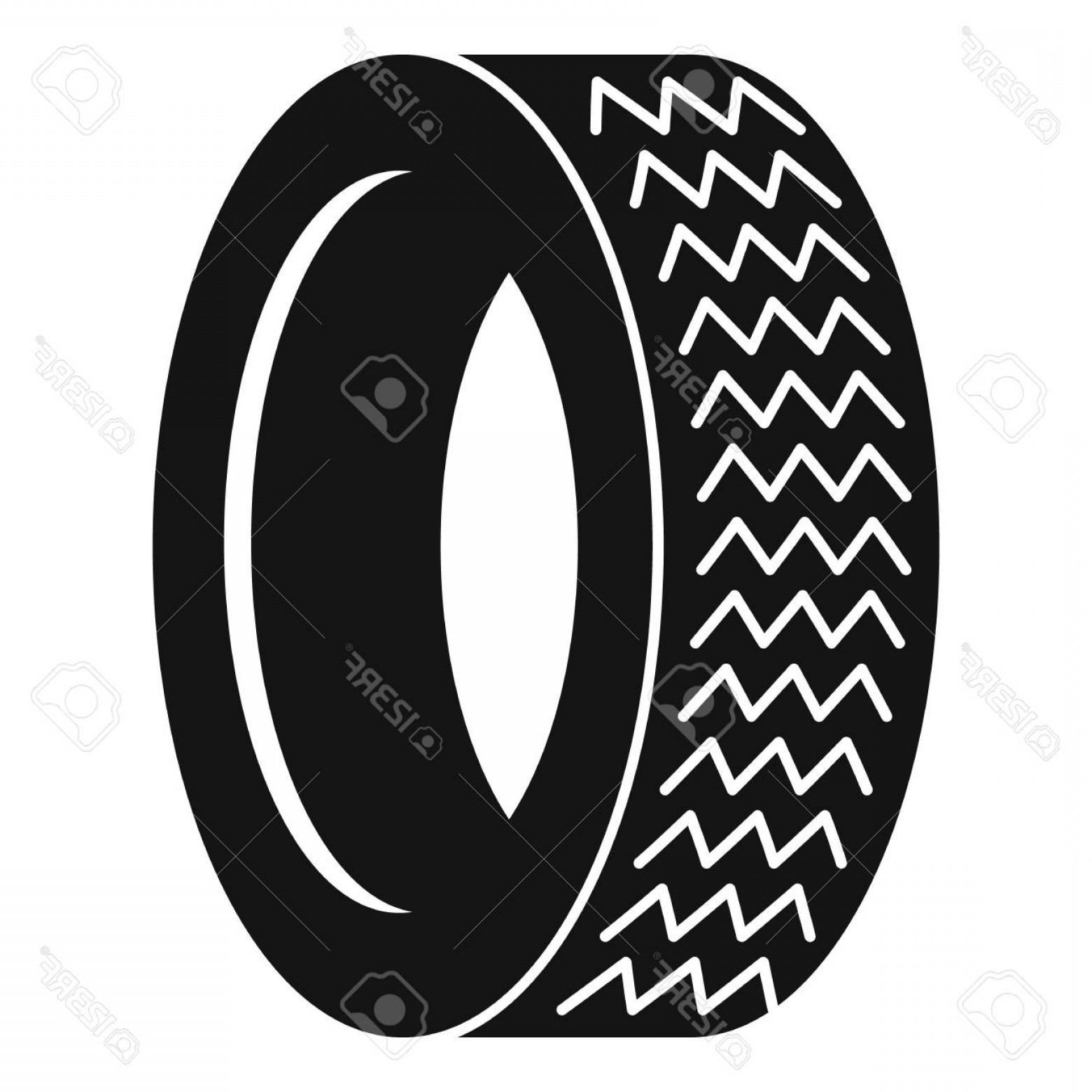 Tire Icon Vector: Photostock Vector Machine Tire Icon Simple Illustration Of Machine Tire Vector Icon For Web