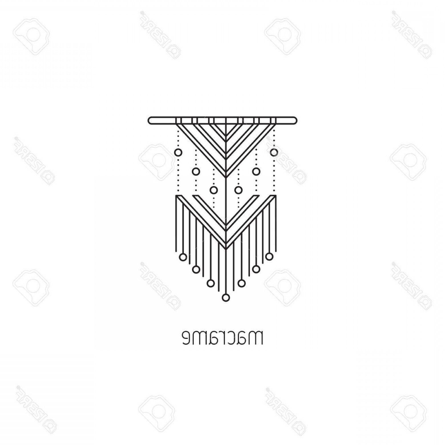 BBB Logo In Vector Form: Photostock Vector Macrame Vector Thin Line Icon A Form Of Textile Making Using Knotting Colored Isolated Symbol Logo T