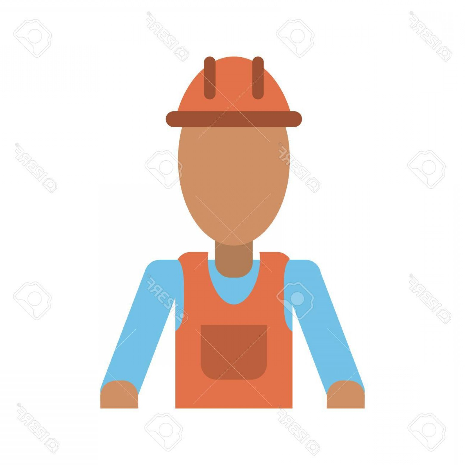 General Contractor Vector: Photostock Vector Male Construction Worker Contractor Avatar Icon Image Vector Illustration Design