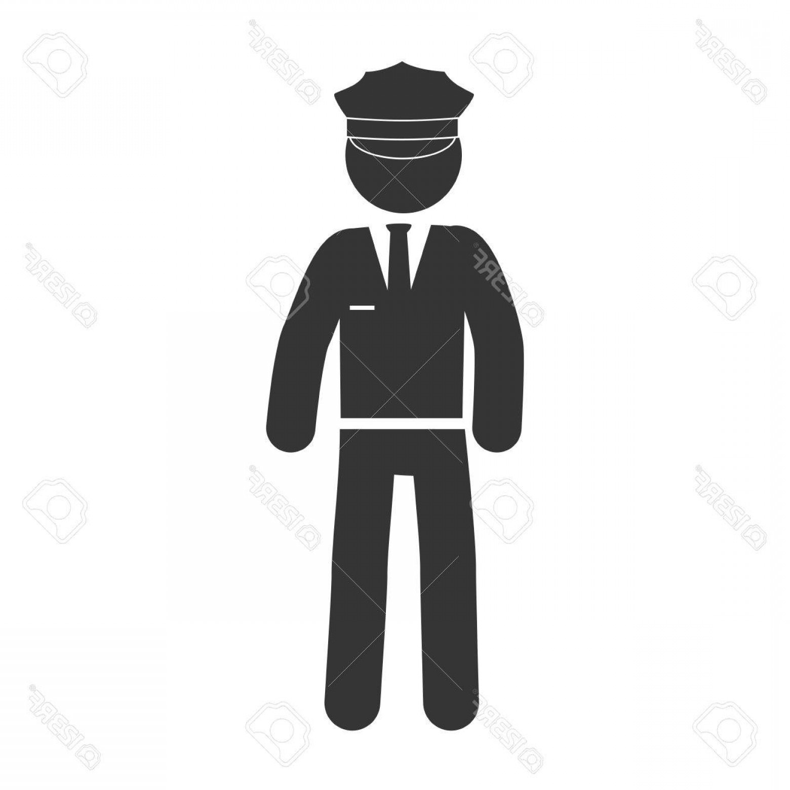 Chauffer Driver Cap Vector: Photostock Vector Man Chauffeur Driver Hat Suit Uniform Tie Male Vector Graphic Isolated Illustration