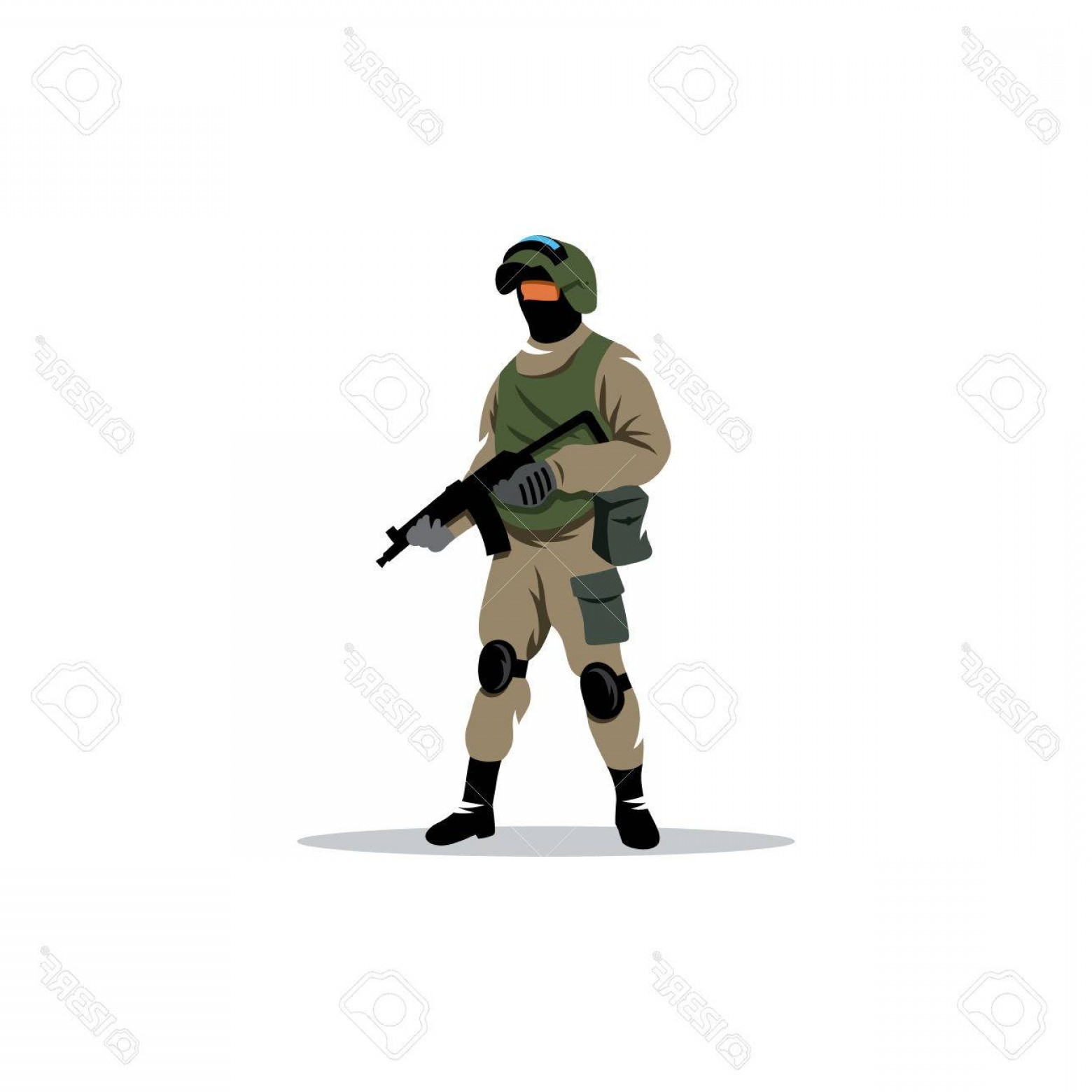 Us Special Forces Vector Files: Photostock Vector Man In Military Equipment For Special Operations