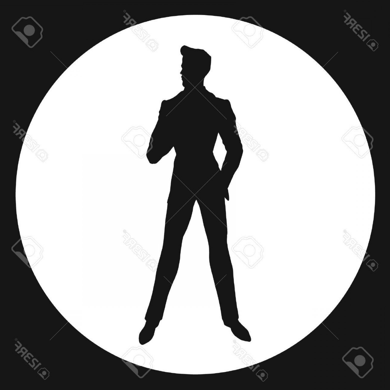 James Bond Silhouette Vector: Photostock Vector Man Silhouette James Bond