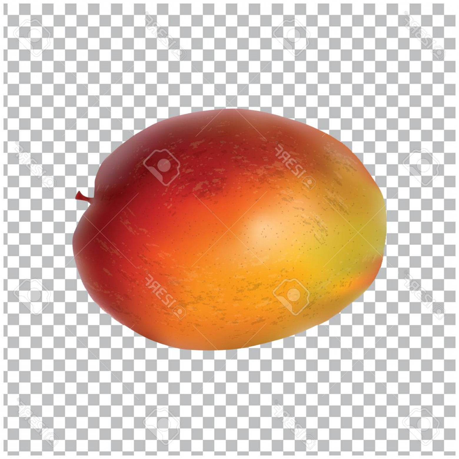Easter Vector Art No Background: Photostock Vector Mango Isolated On A Transparent Background Realistic Art Creative Modern Vector