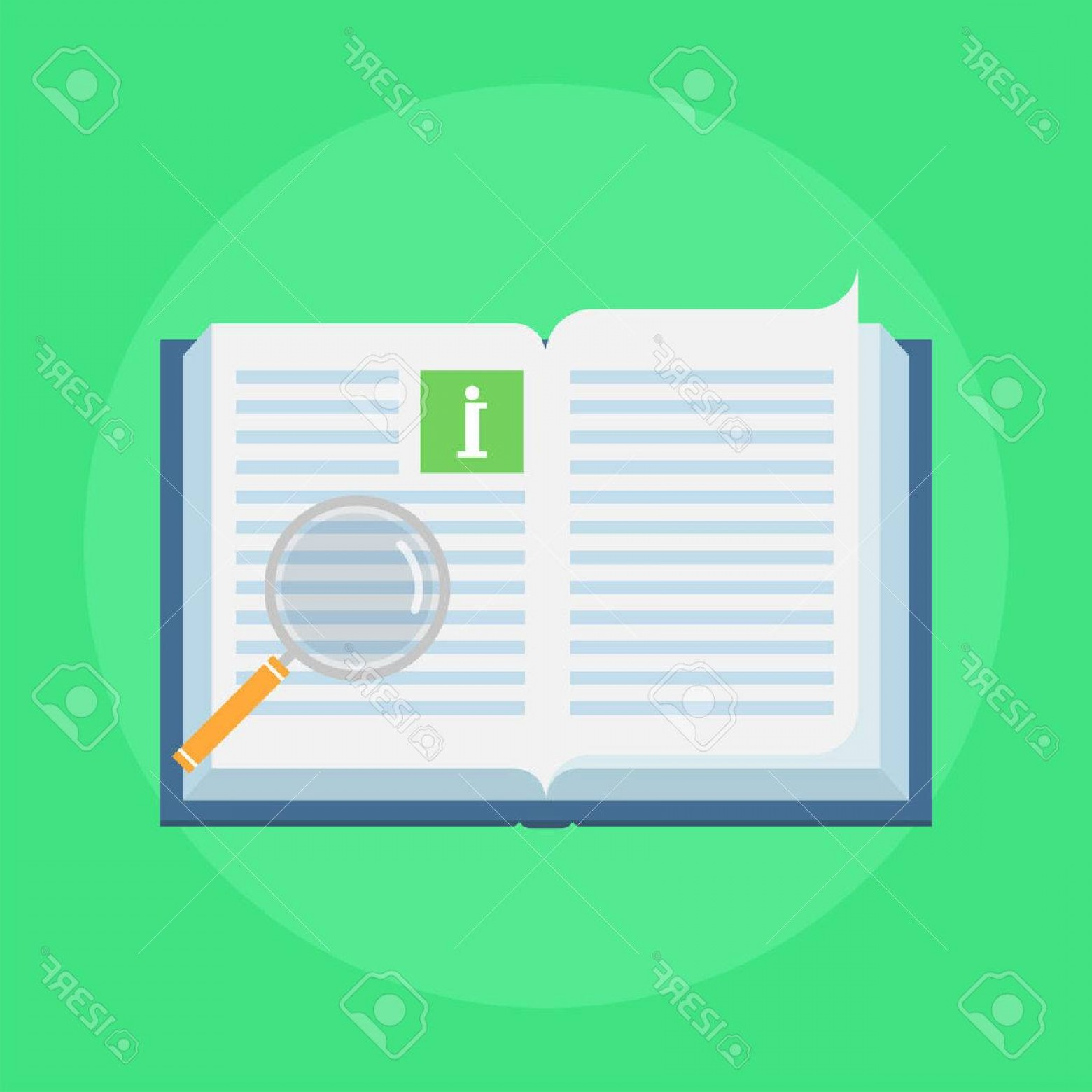 Open Book Vector Flat: Photostock Vector Manual Book Vector Icon In Flat Style Concept User Manual Isolated On Colored Background Illustratio