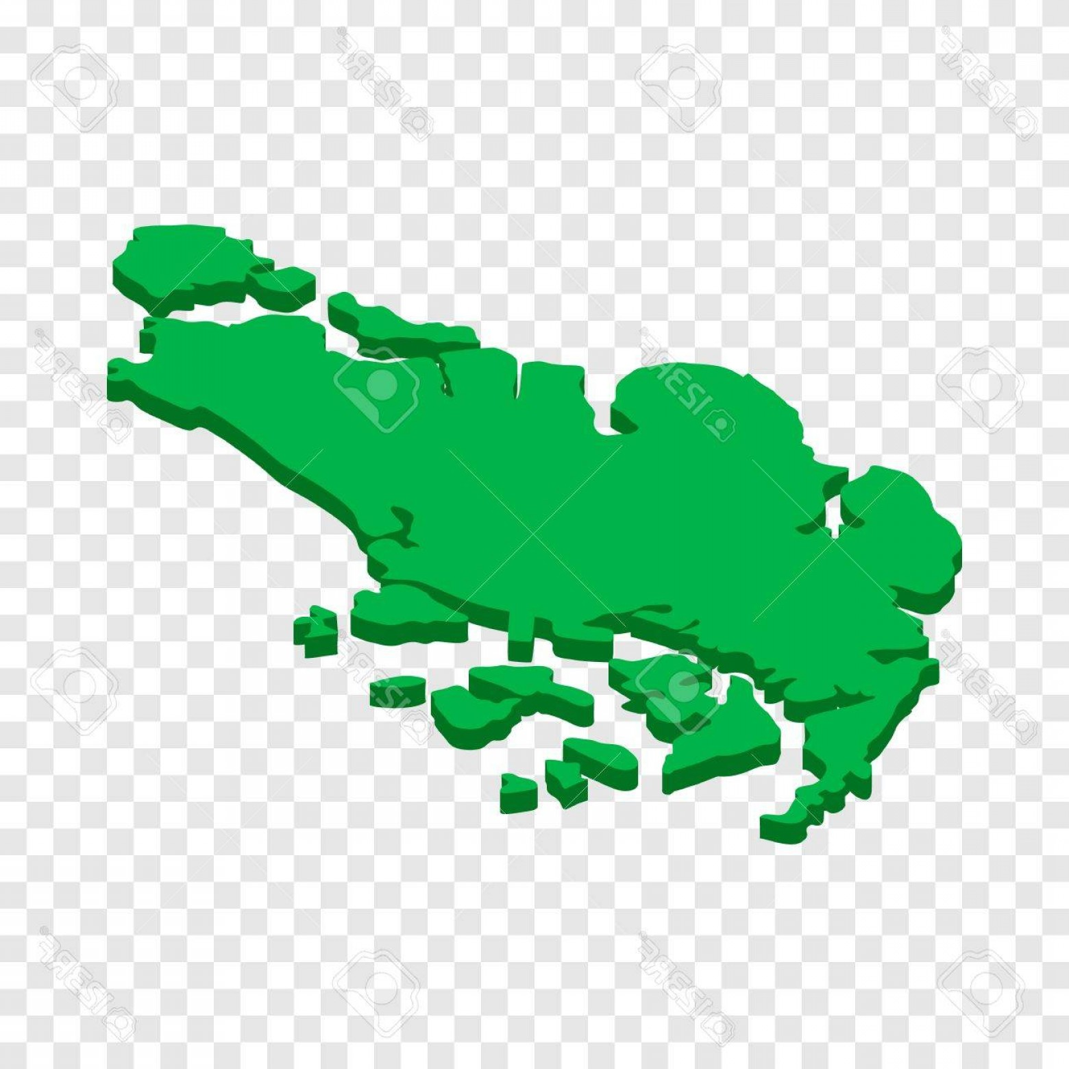 BG Vector Map: Photostock Vector Map Of Singapore Isometric Icon D On A Transparent Background Vector Illustration