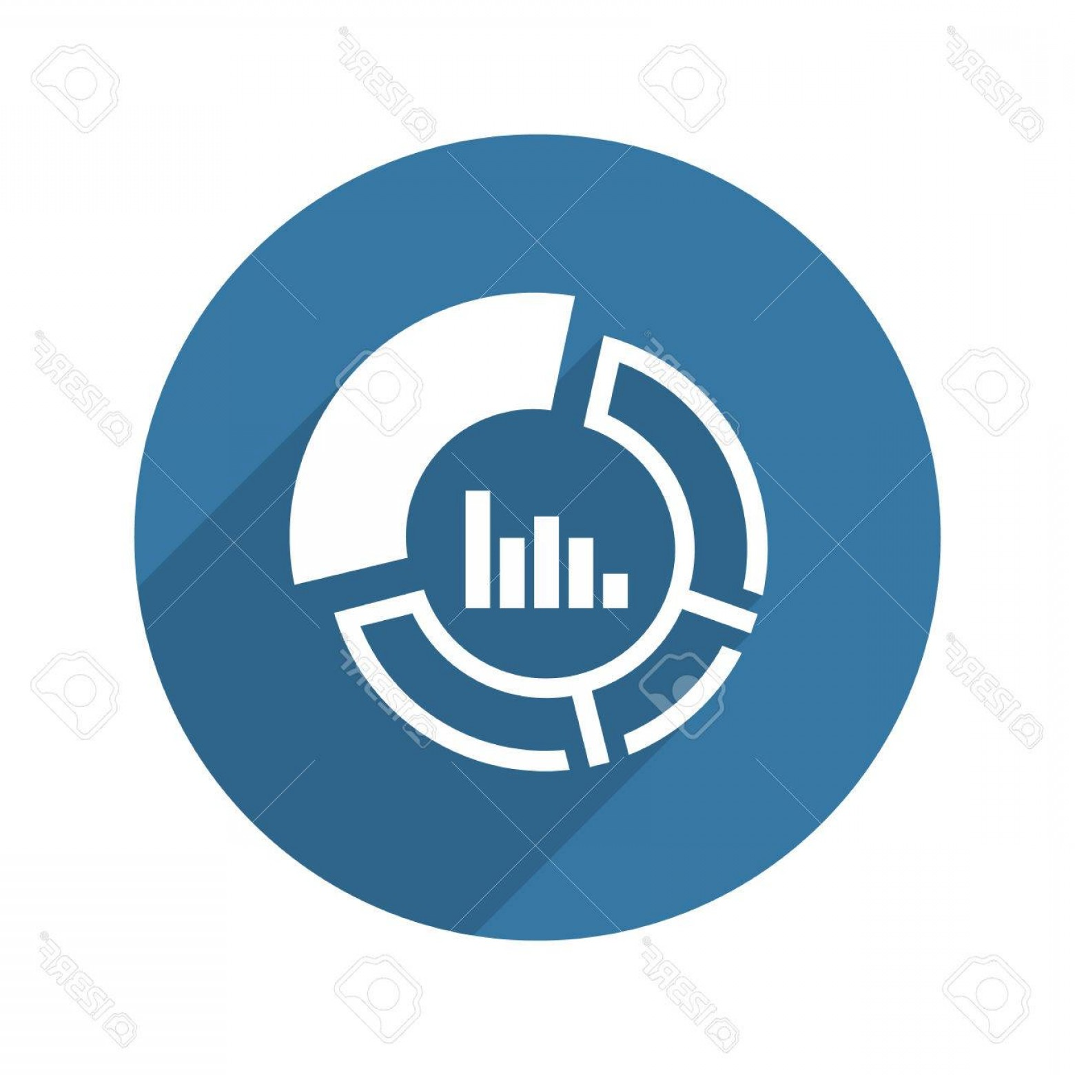 Share Logo Vector: Photostock Vector Market Share Icon Business Concept Flat Design Isolated Illustration
