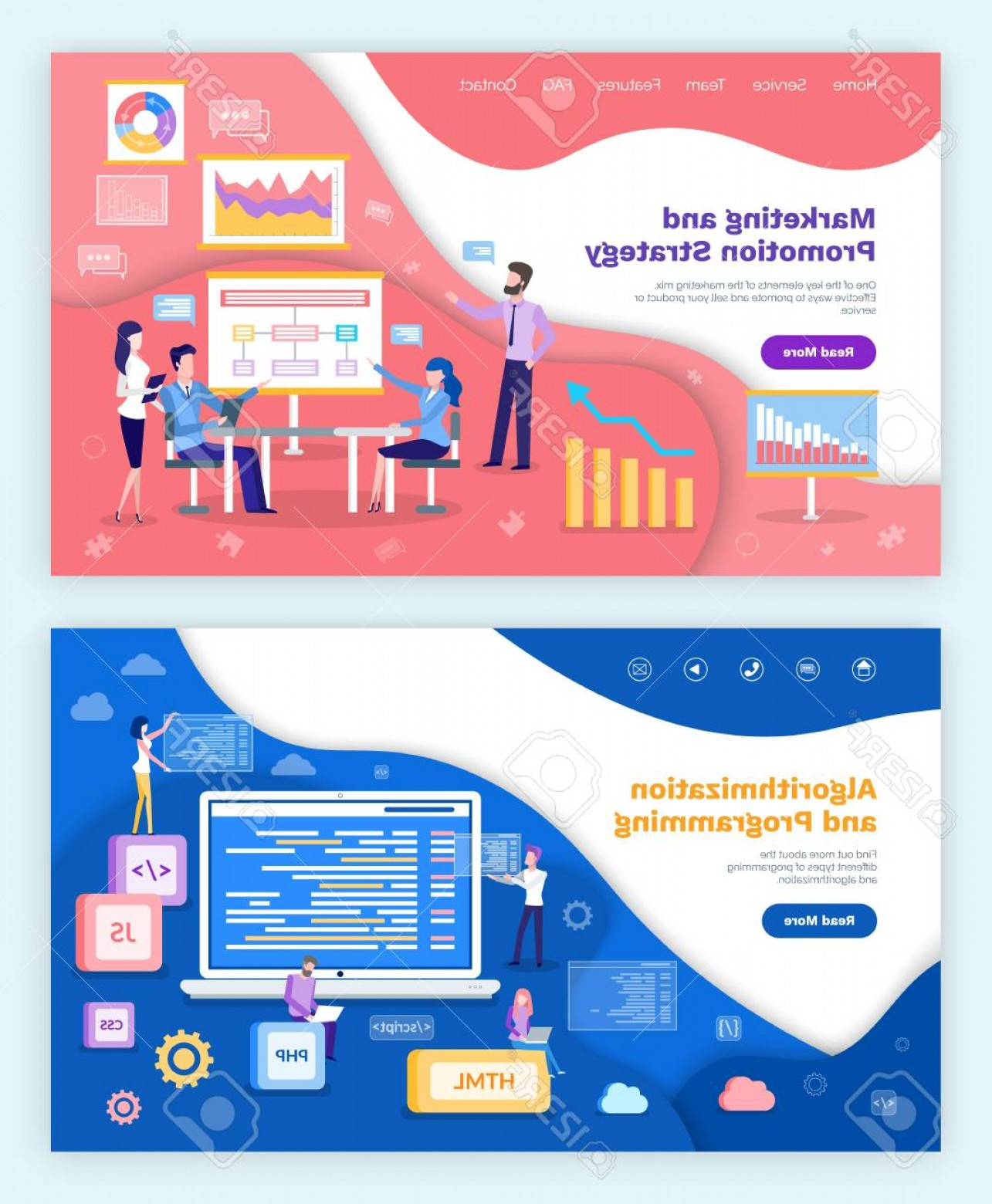 Vector Marketing.com: Photostock Vector Marketing And Promotion Strategy Algorithmization And Programming Vector Whiteboard With Plan And Ch