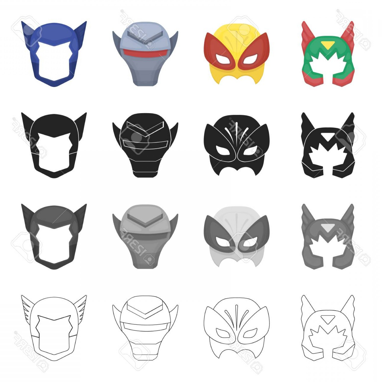 Batman Mask Sketch Vector: Photostock Vector Mask Cinematography Cartoons And Other Web Icon In Cartoon Style Thing Dress Film Icons In Set Colle