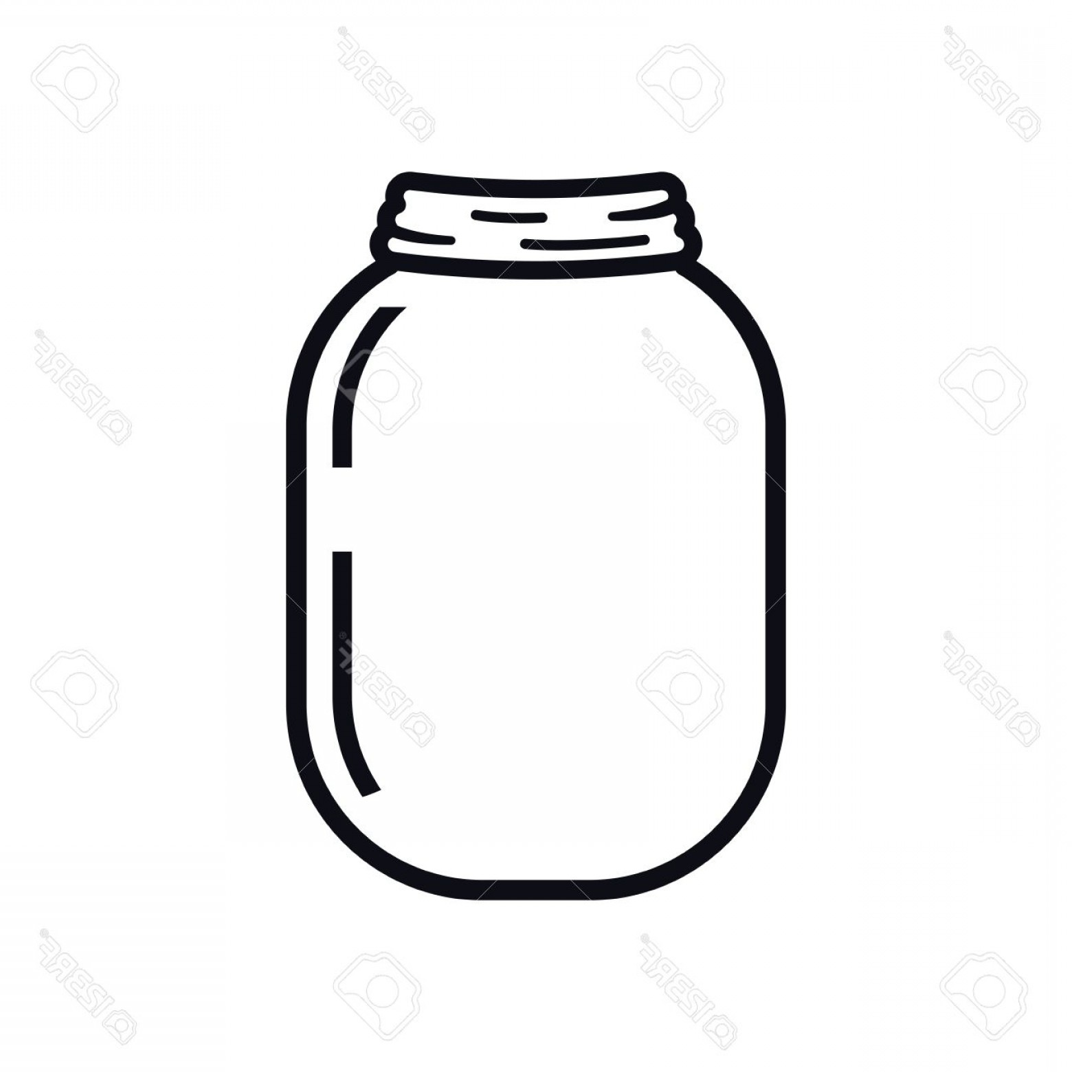 Mason Jar Outline Vector: Photostock Vector Mason Jar Glass Rustic Can Icon Isolated And Flat Illustration Vector Graphic