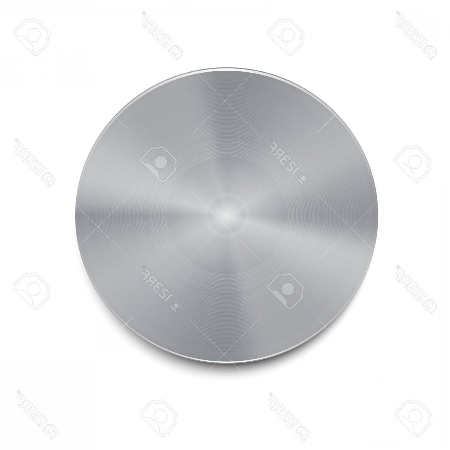 Metal Button Vector: Photostock Vector Metal Isolated Button Vector Illustration Silver Button