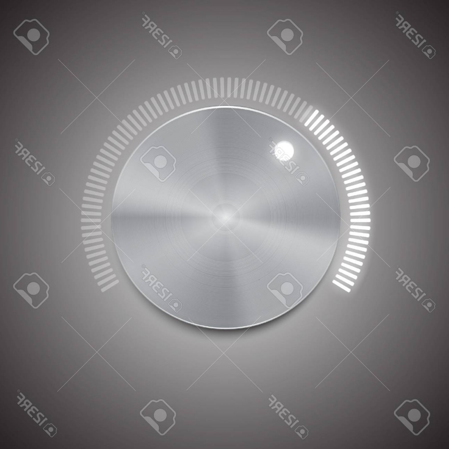 Volume Button Vector: Photostock Vector Metal Volume Button Vector