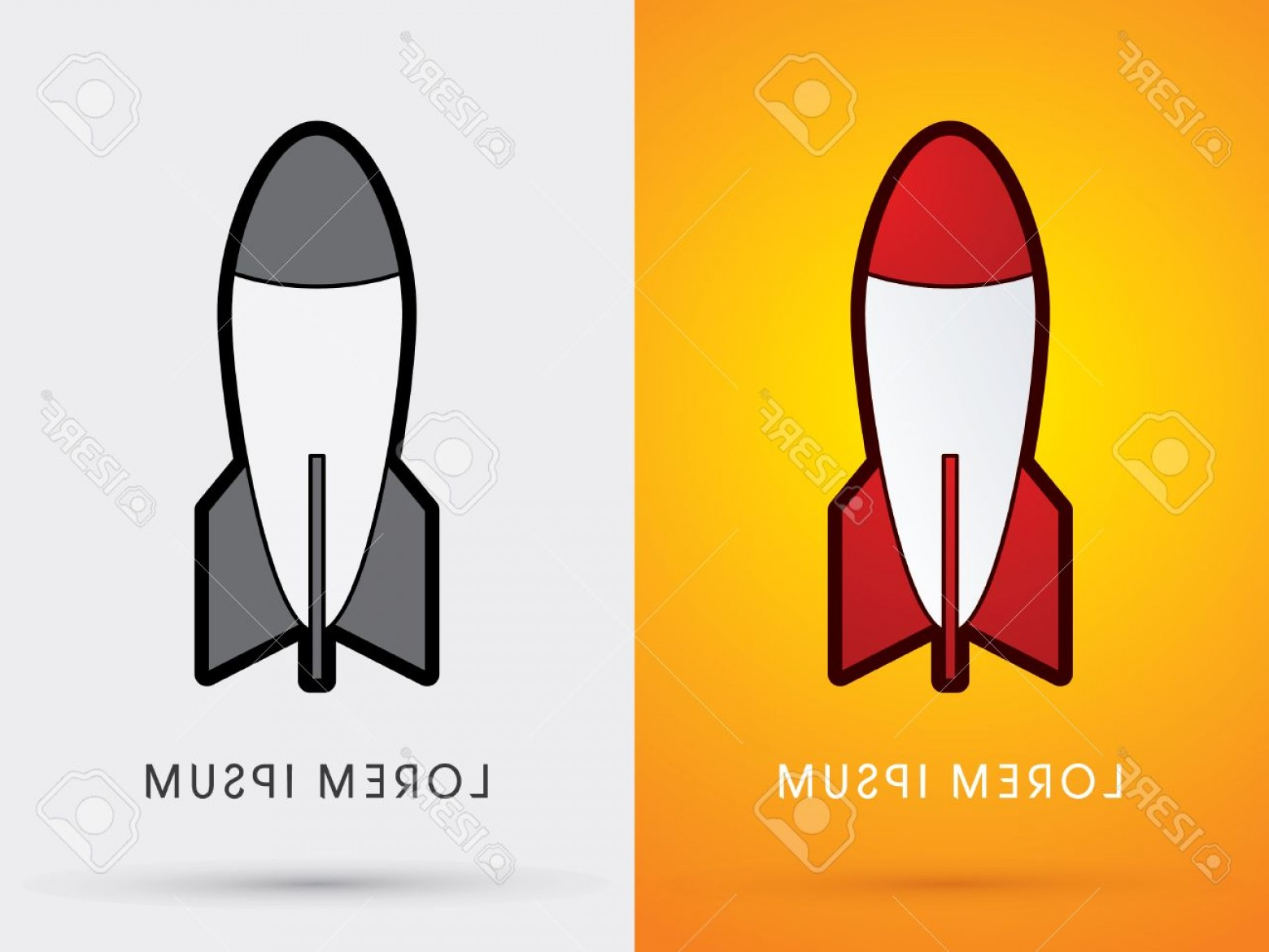 320 Vector: Photostock Vector Missile Rocket Weaponcartoon Logo Symbol Icon Graphic Vector