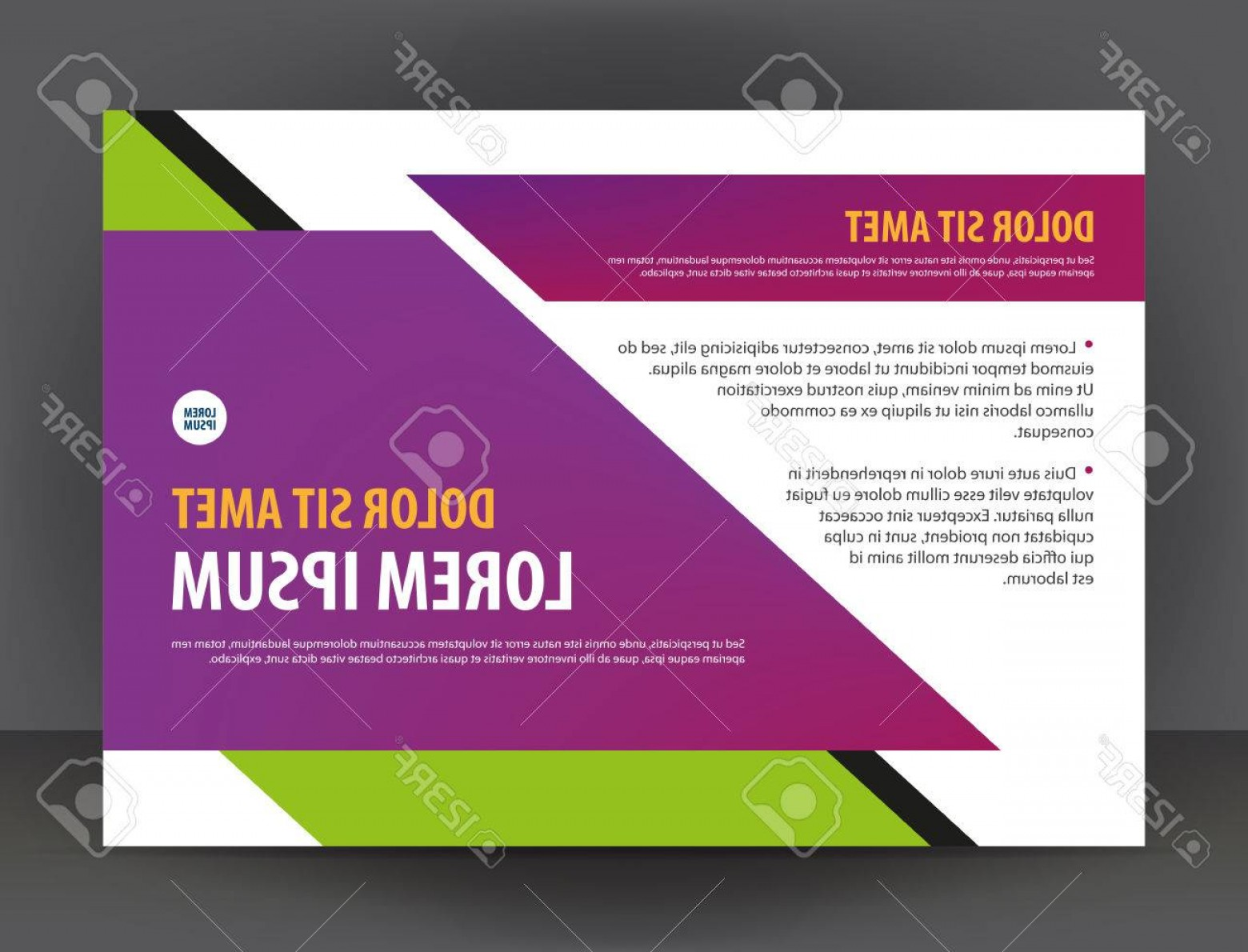 Purple Green And White Vector: Photostock Vector Modern Bright Purple Green And White Certificate Or Diploma Design Print Template Brochure