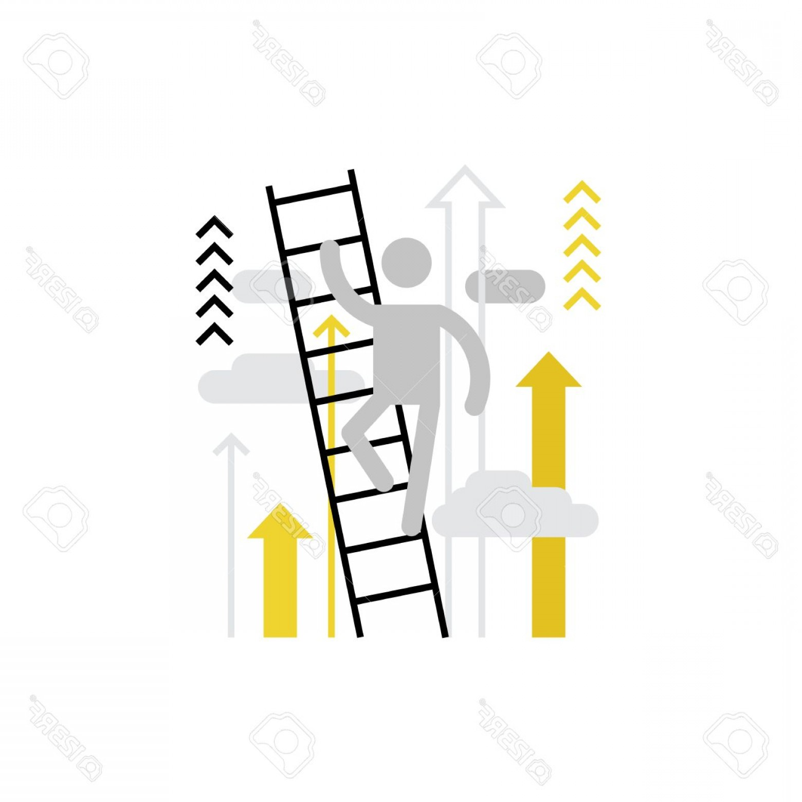 Vector Career Ladder: Photostock Vector Modern Vector Icon Of Career Ladder Of Person And Climbing Process Over It Premium Quality Vector Il