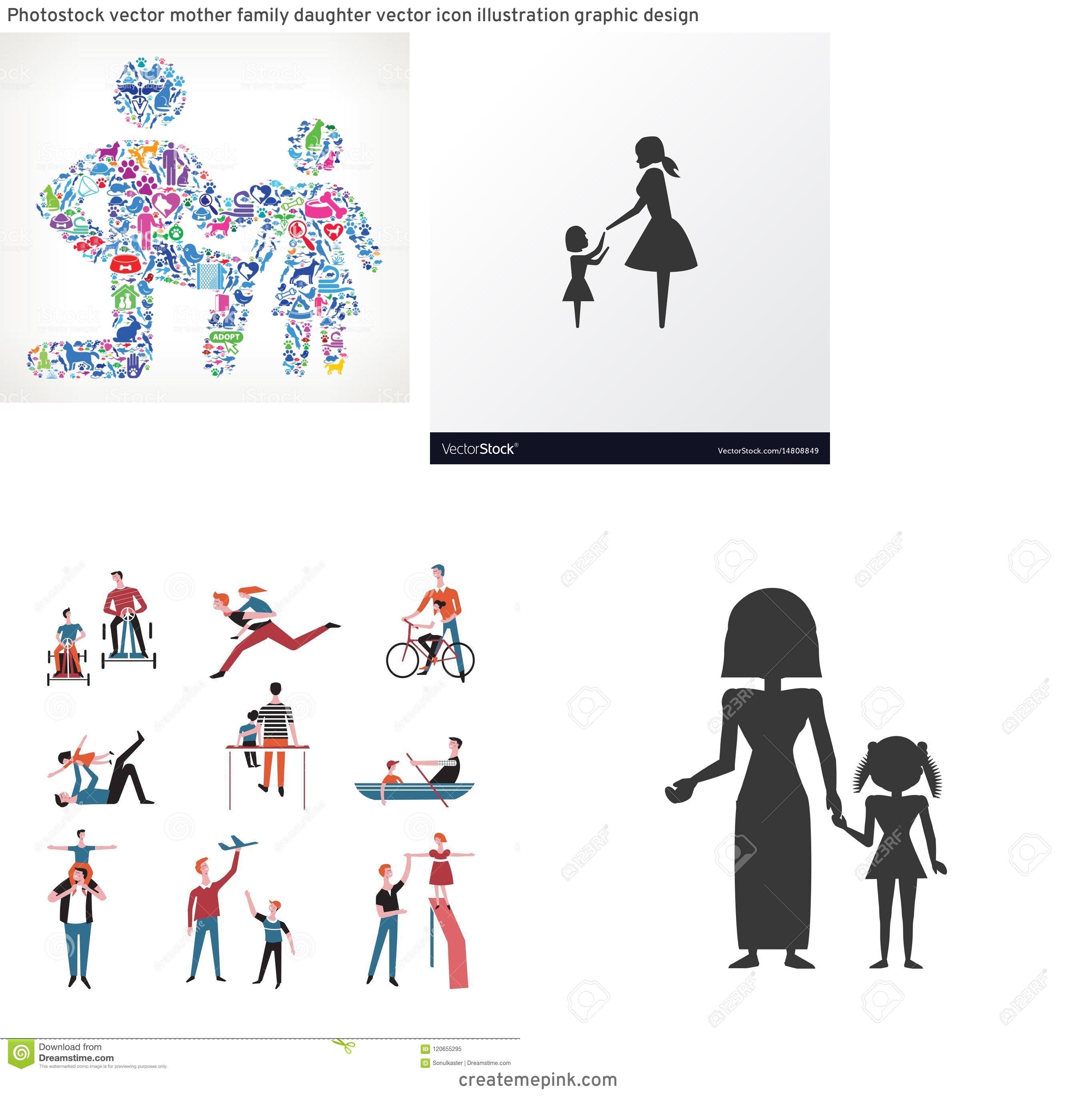 Daughter Vector Icons: Photostock Vector Mother Family Daughter Vector Icon Illustration Graphic Design