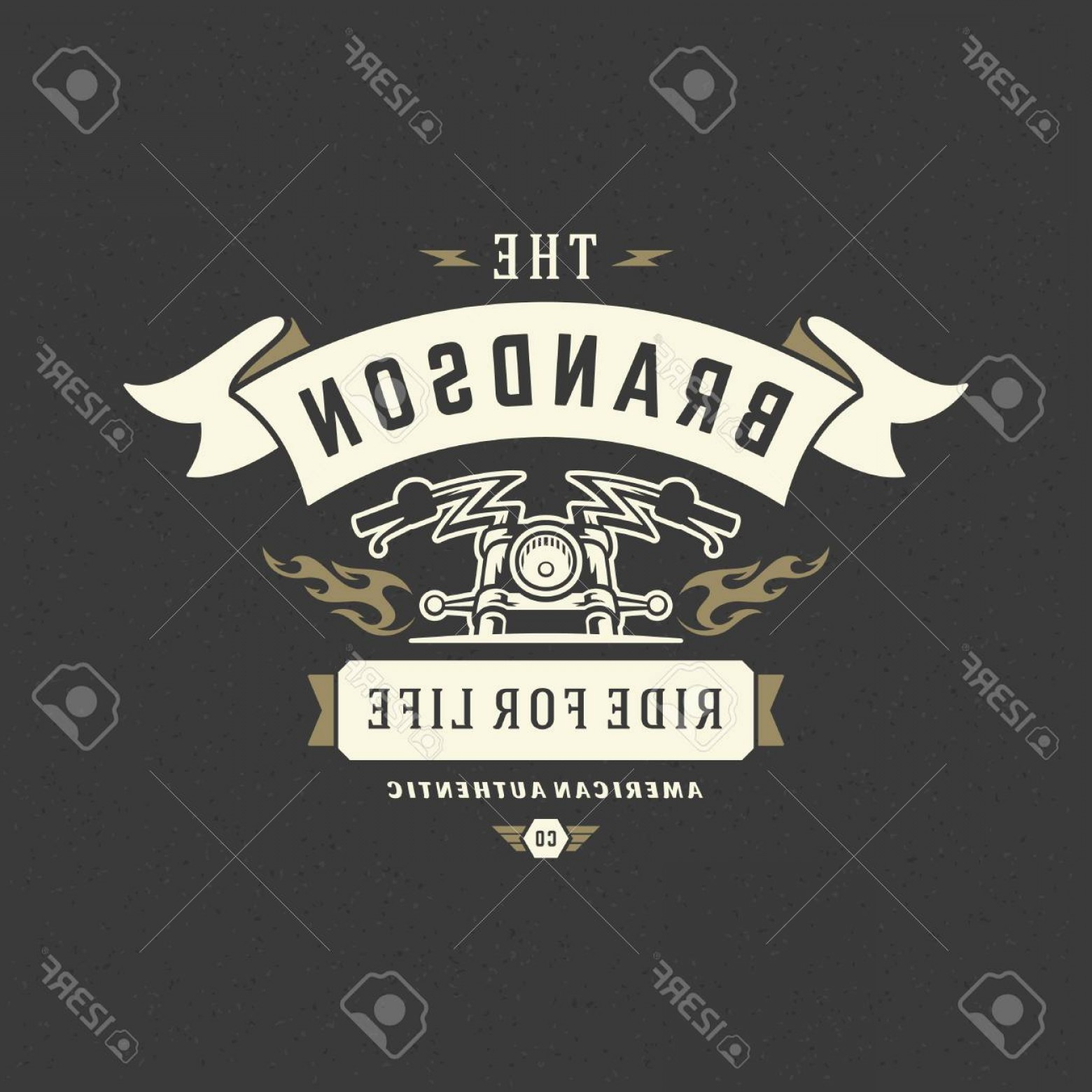 Motorcycle Club Vector: Photostock Vector Motorcycle Club Logo Template Vector Design Element Vintage Style For Label Or Badge Retro Illustrat