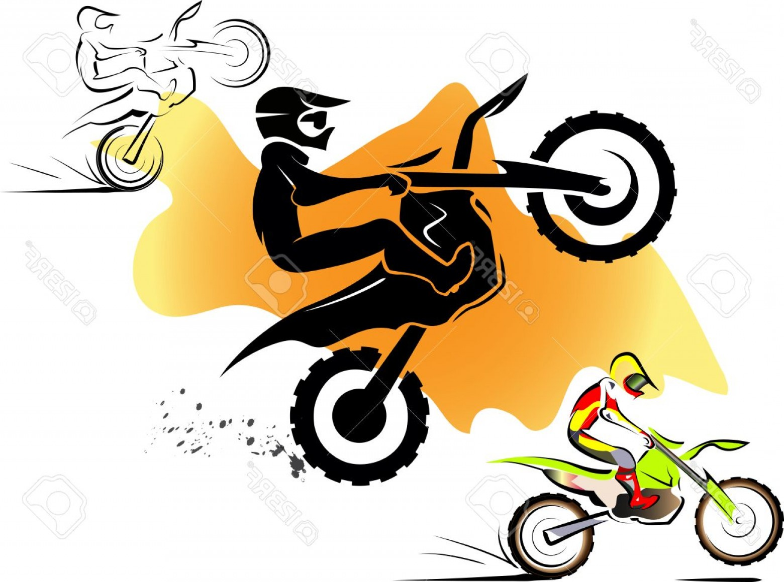 Dirt Bike Gas Can Vector: Photostock Vector Motorcycle Motocross Sport Extreme Background Design