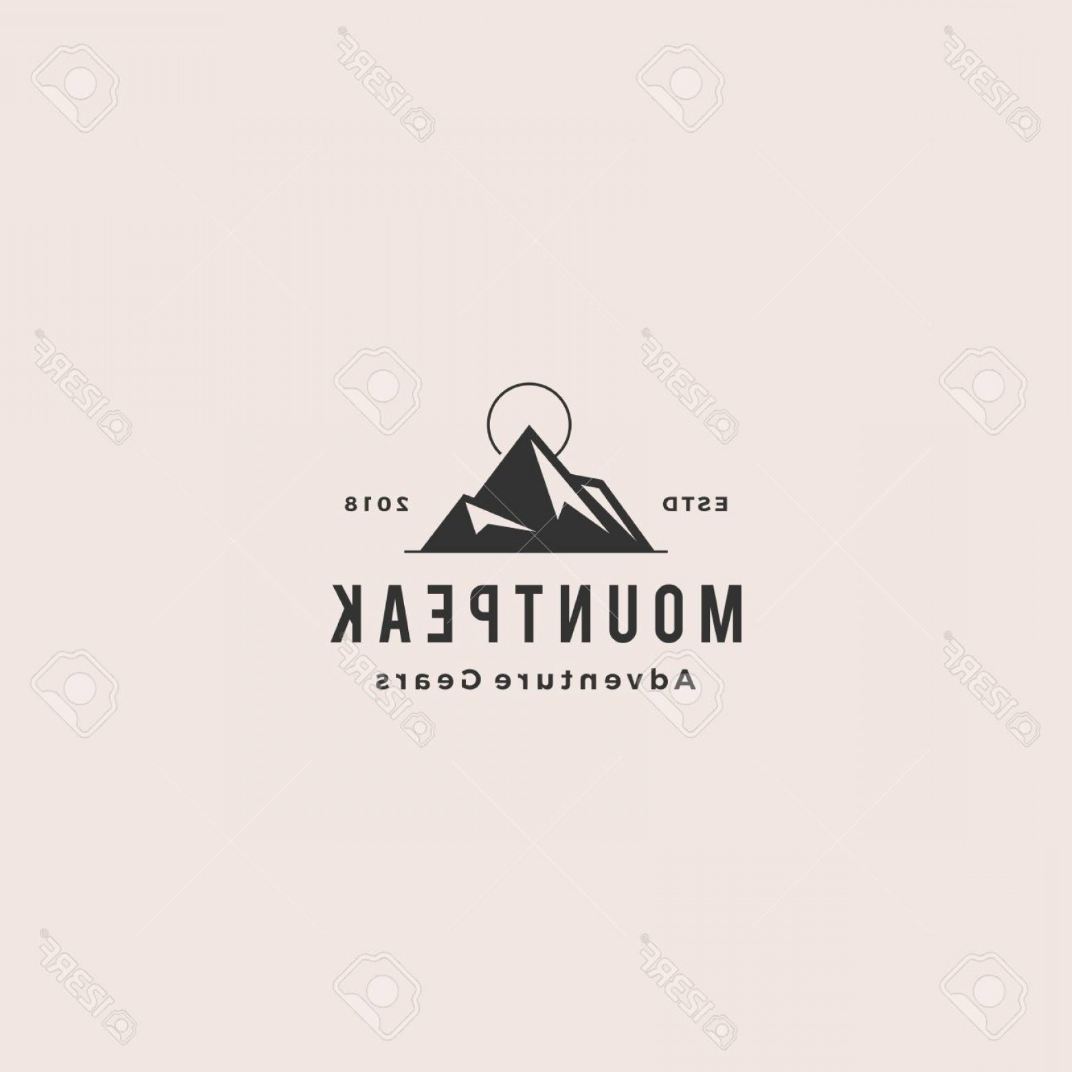 Hipster Logo Vectors Mountain: Photostock Vector Mount Peak Mountain Logo Hipster Vintage Retro Vector Icon Illustration