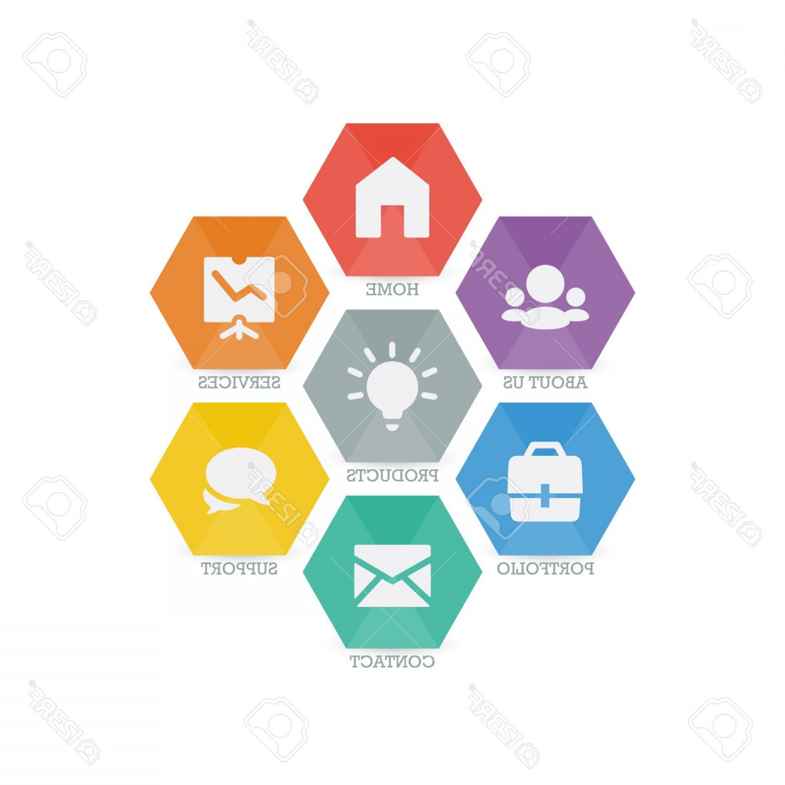 Support Vector Graphics: Photostock Vector Multipurpose Set Of Web Icons For Business Finance And Communication Vector Graphic Template