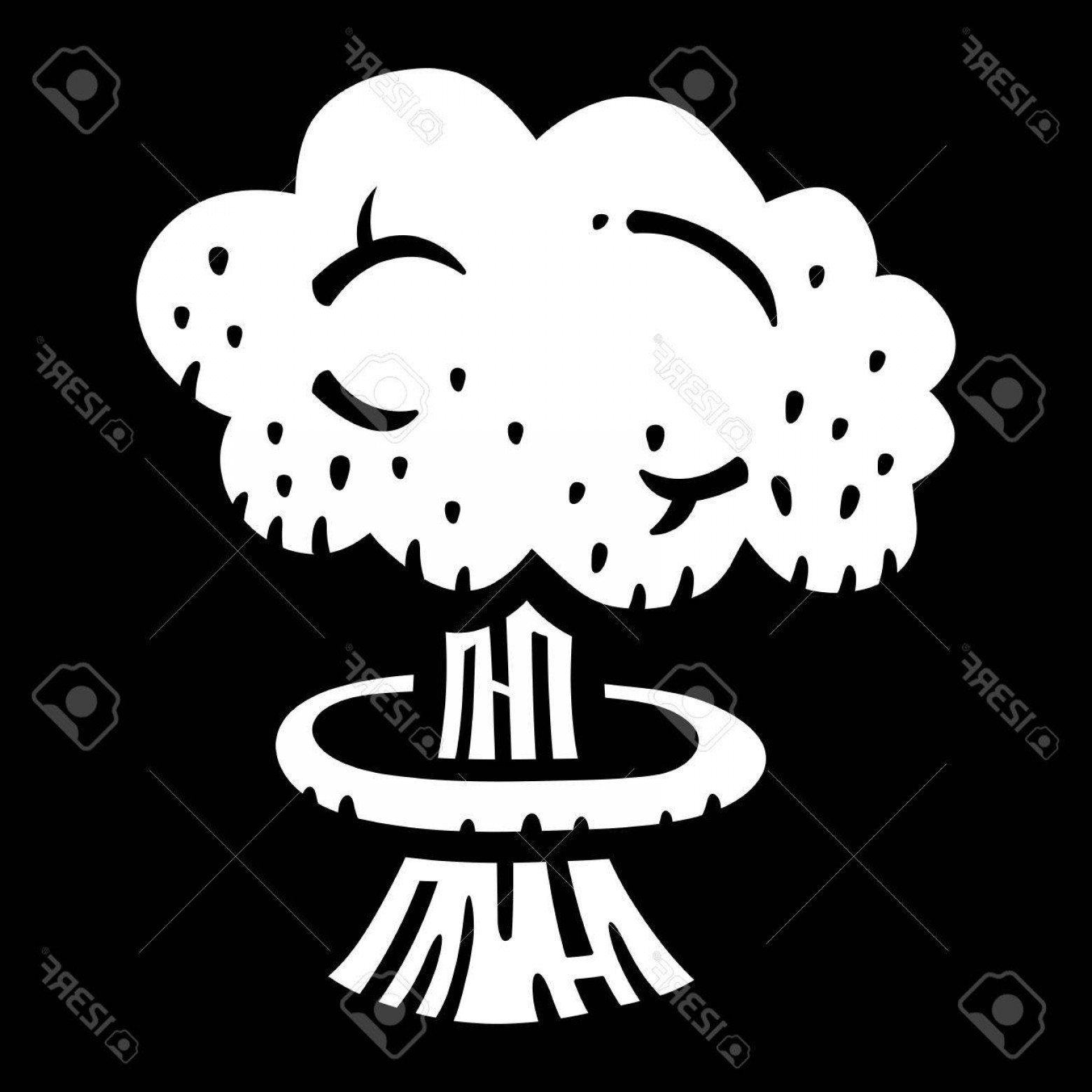 Atomic Vector Coud: Photostock Vector Mushroom Cloud Atomic Nuclear Bomb Explosion Fallout Vector Icon