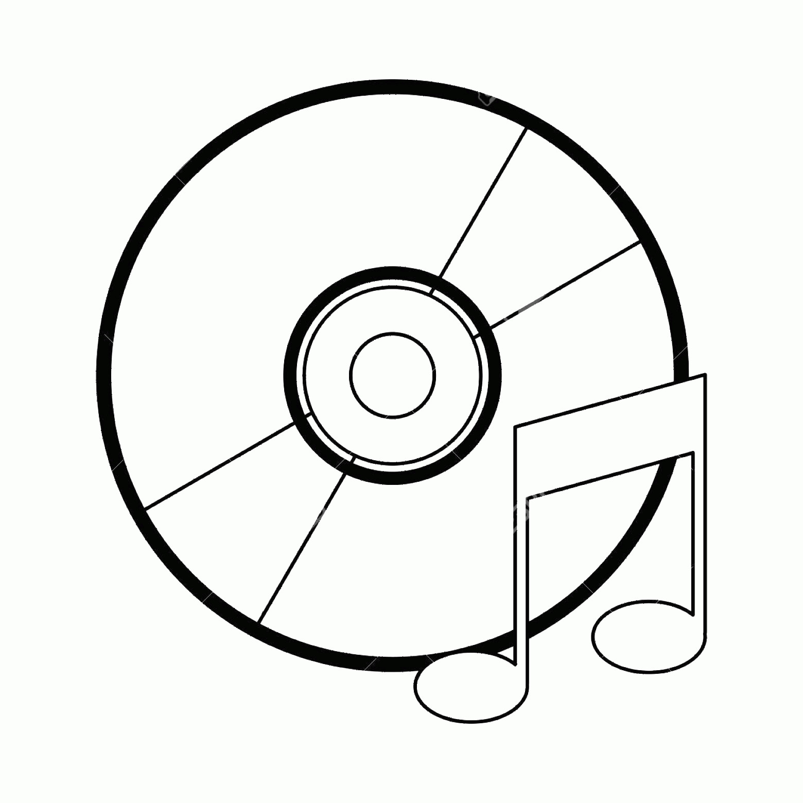 Vector CD- ROM: Photostock Vector Music Cd Rom With Note Symbol Vector Illustration Graphic Design