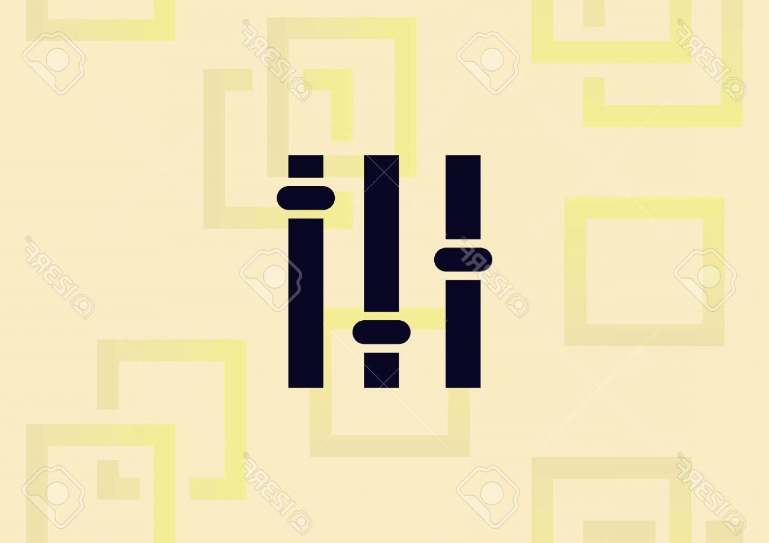 Rock Band Equalizer Vector: Photostock Vector Music Equalizer Icon Vector Illustration