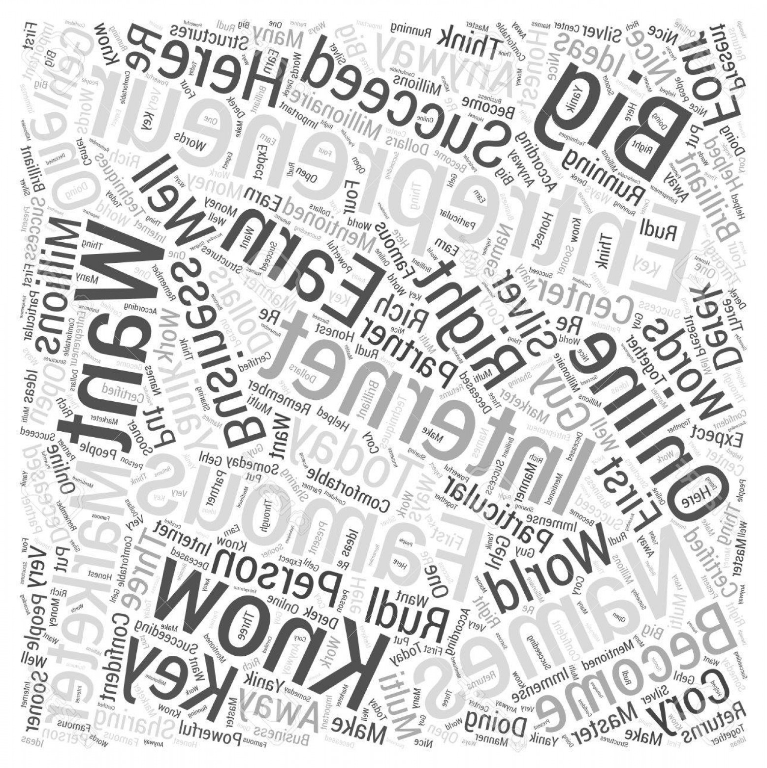 Vector Word Famous: Photostock Vector Names Of Famous Entrepreneurs Word Cloud Concept