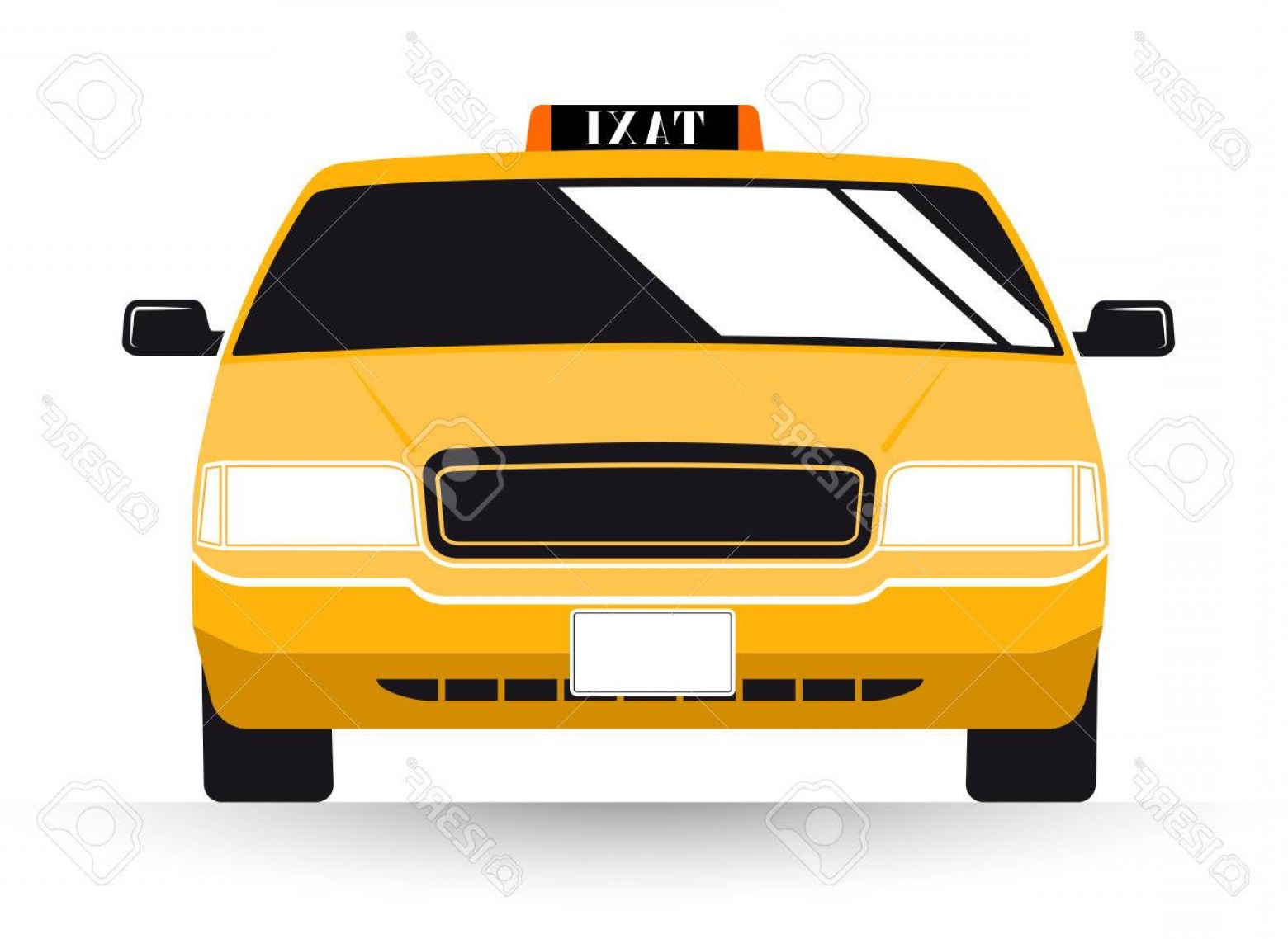 New York Taxi Cab Vector: Photostock Vector New York Yellow Taxi Cab On White Background