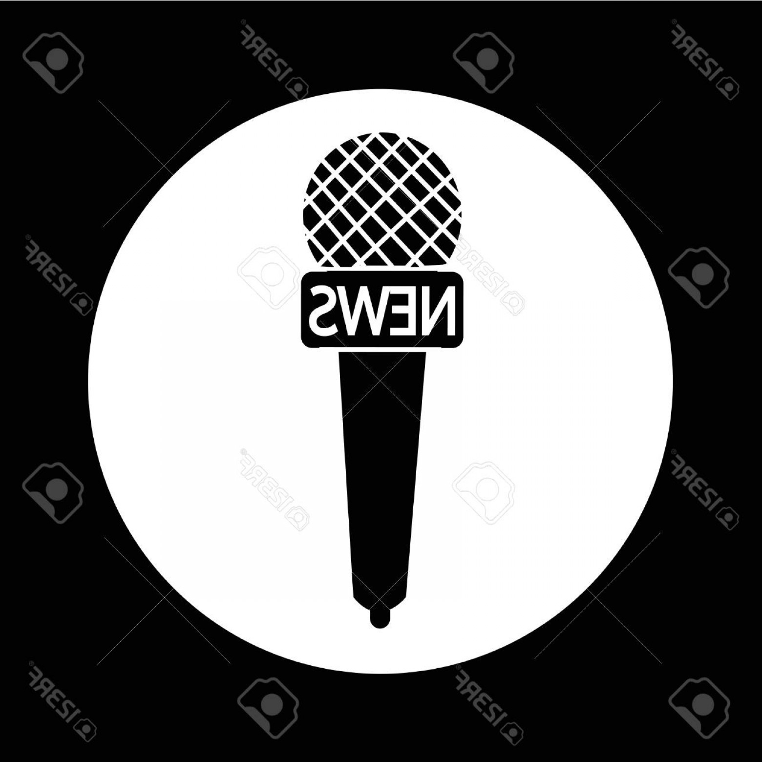 News Microphone Icon Vector: Photostock Vector News Microphone Icon Illustration Design