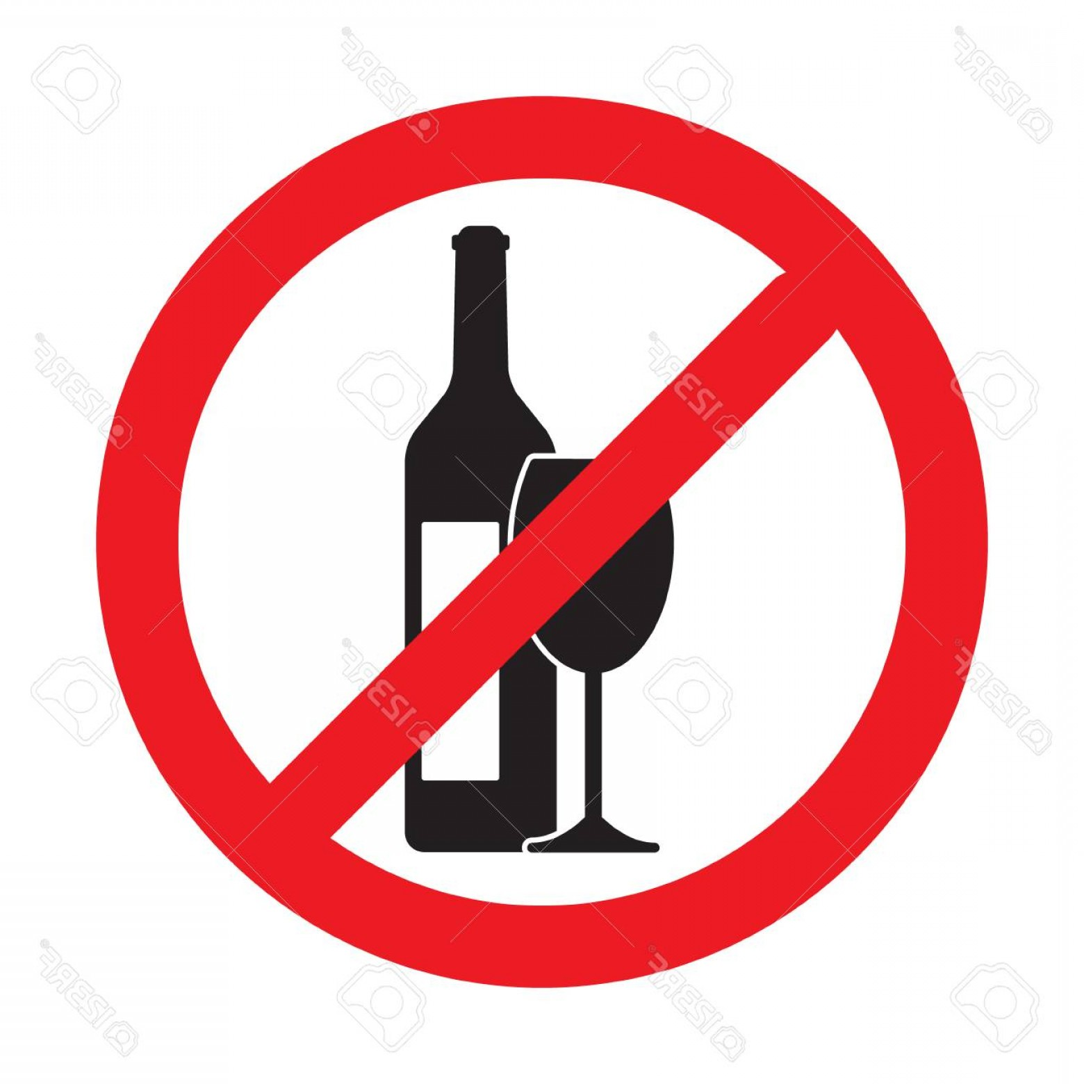 Vector No Alcohol: Photostock Vector No Alcohol Drink Sign Isolated On White Background