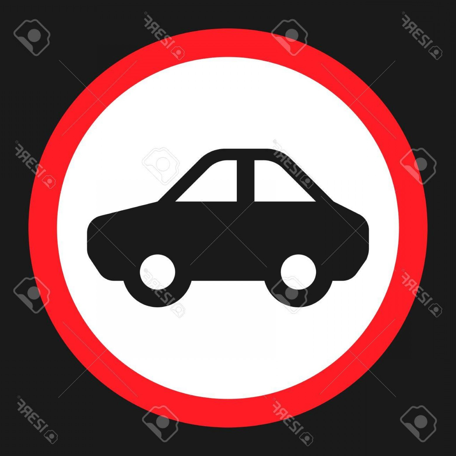 Motor Vector Graphics: Photostock Vector No Motor And Car Flat Icon Traffic And Road Sign Vector Graphics A Solid Pattern On A Black Backgrou