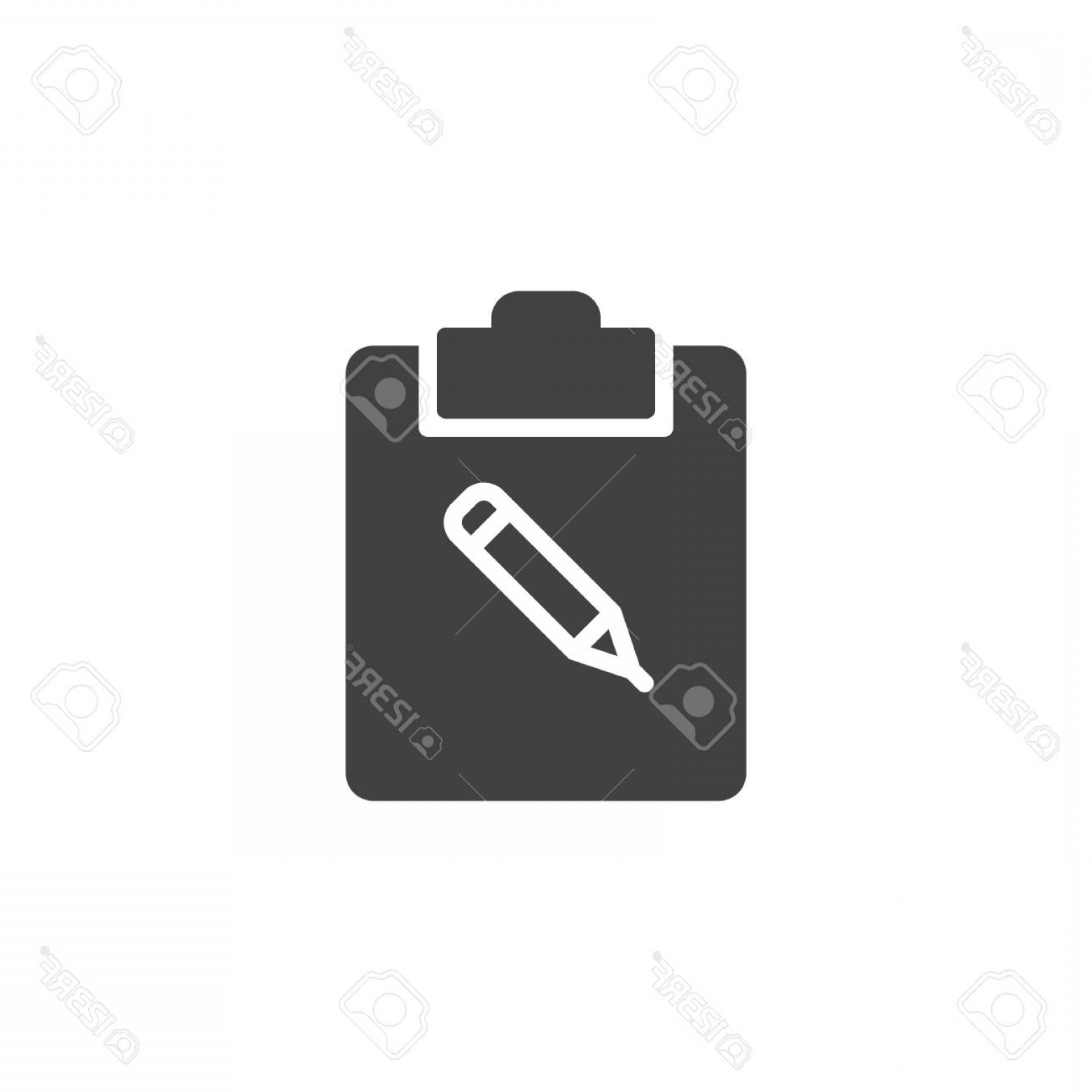 Notepad Writing Hand Vector: Photostock Vector Notepad With Pencil Icon Vector Filled Flat Sign Solid Pictogram Isolated On White Writing Pad And P