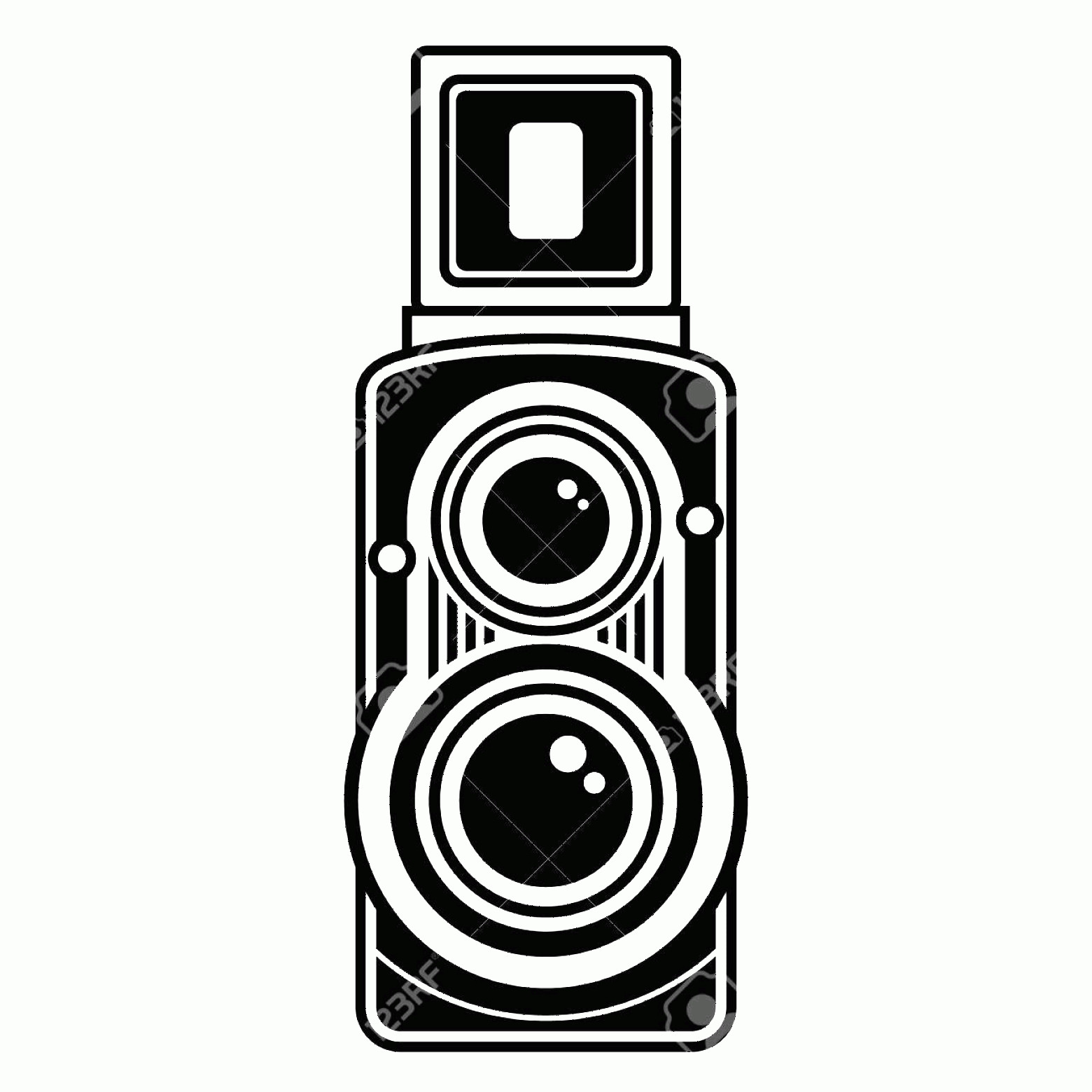 Classic Camera Vector: Photostock Vector Old Classic Camera Vintage Collection