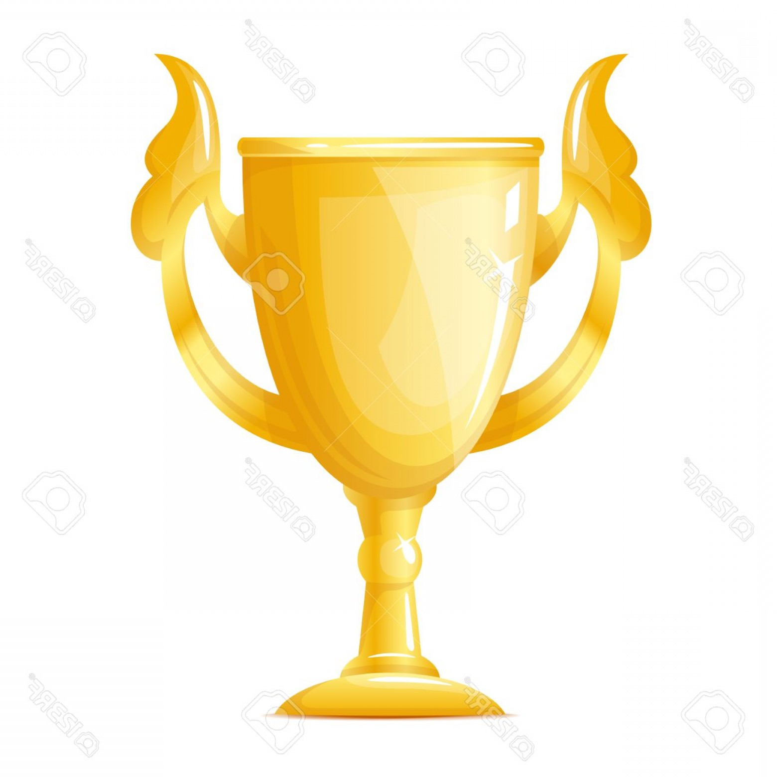 Photostock Vector One Big Golden Cup Gold Trophy Quality Illustration Isolated