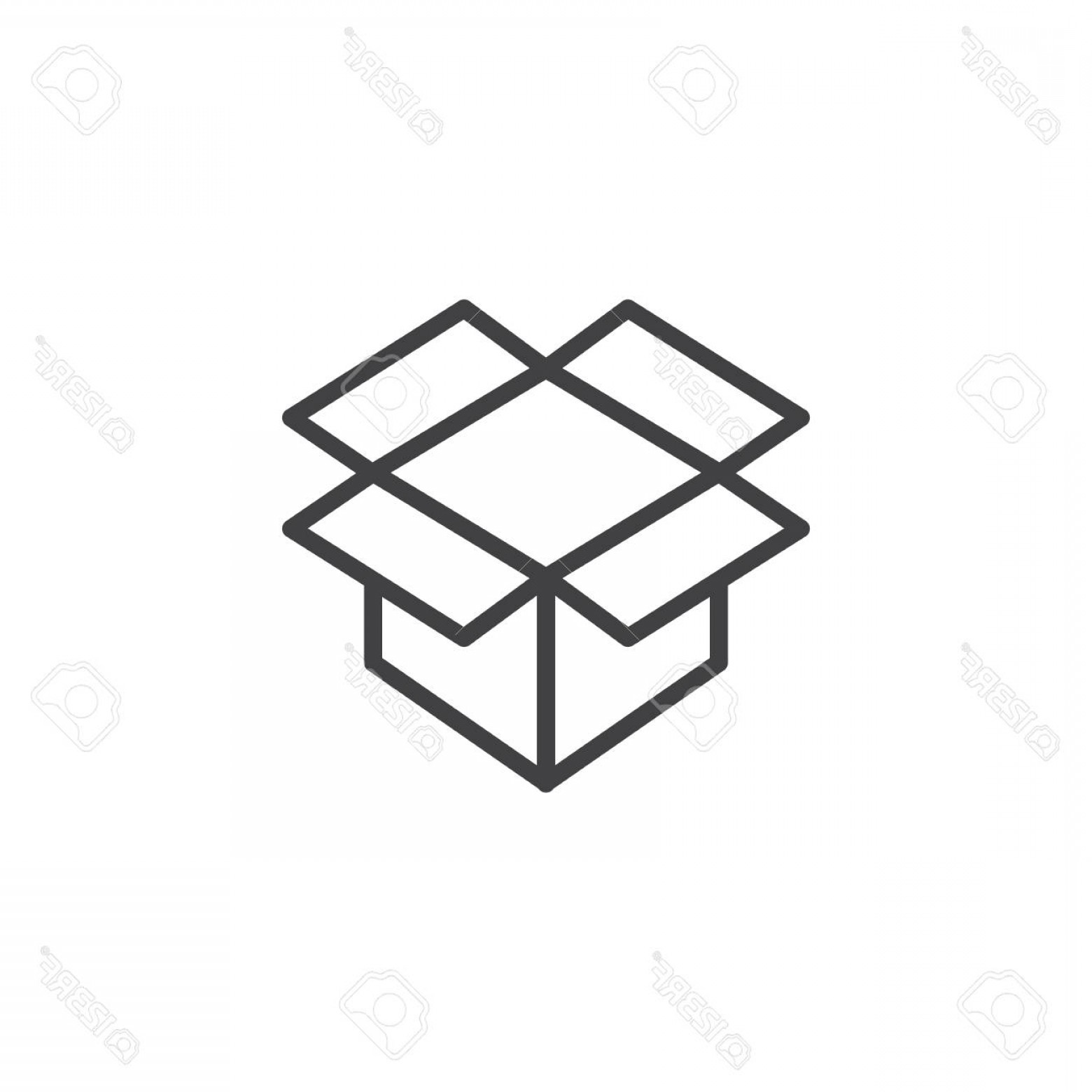 Box Outline Vector: Photostock Vector Open Parcel Box Line Icon Outline Vector Sign Linear Style Pictogram Isolated On White Packaging Car