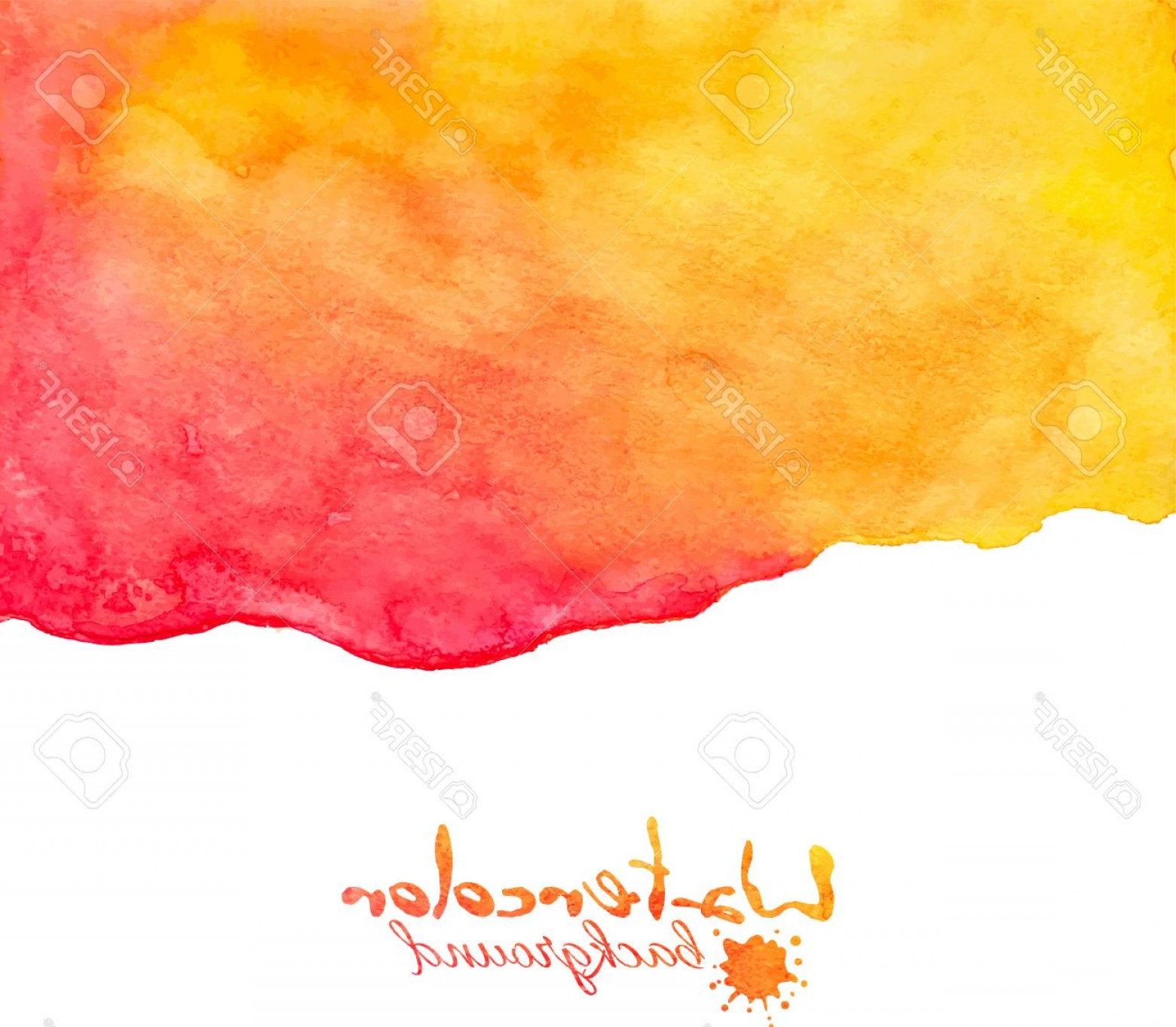 Watercolor Vector Background Free: Photostock Vector Orange And Red Watercolor Vector Abstract Background